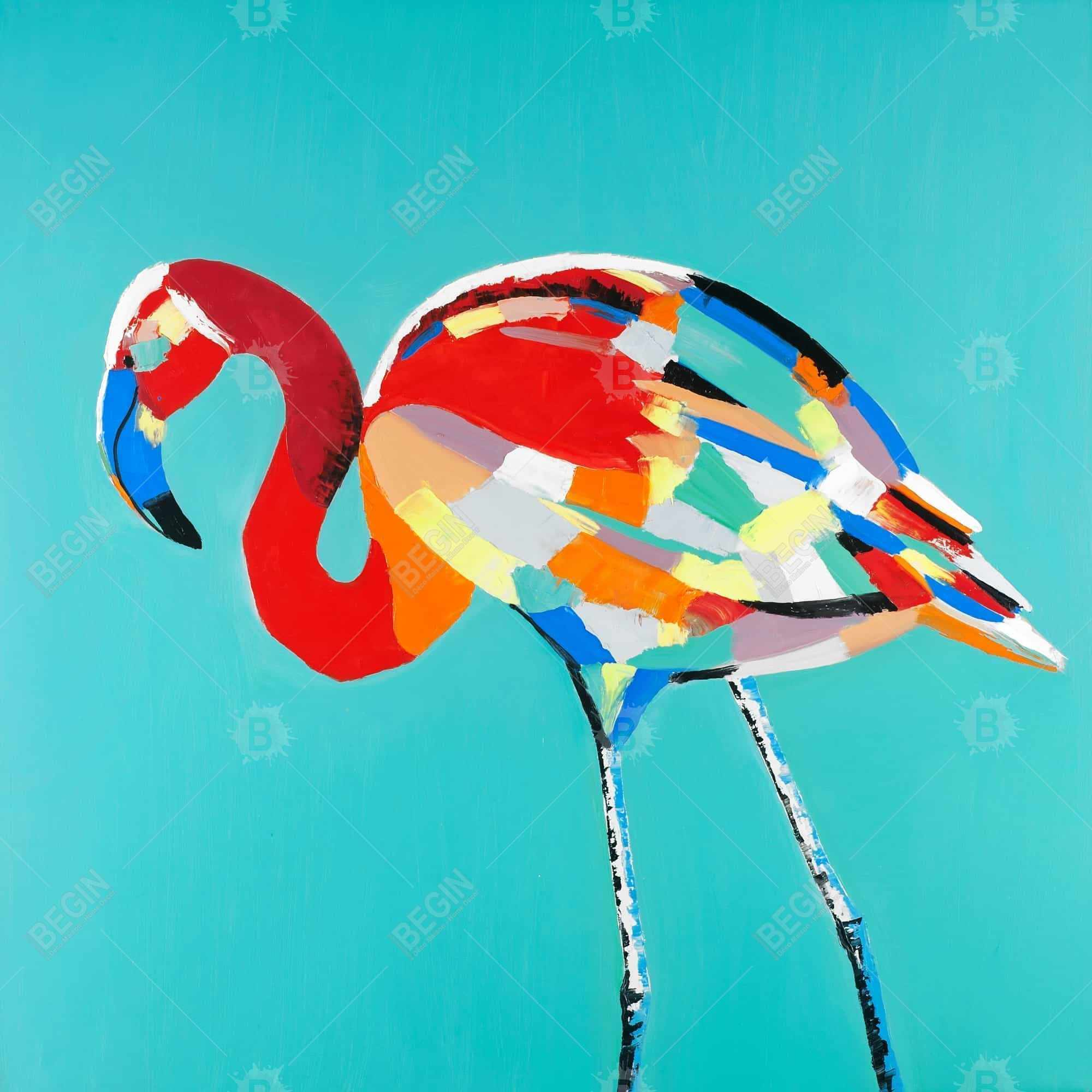 Abstract flamingo
