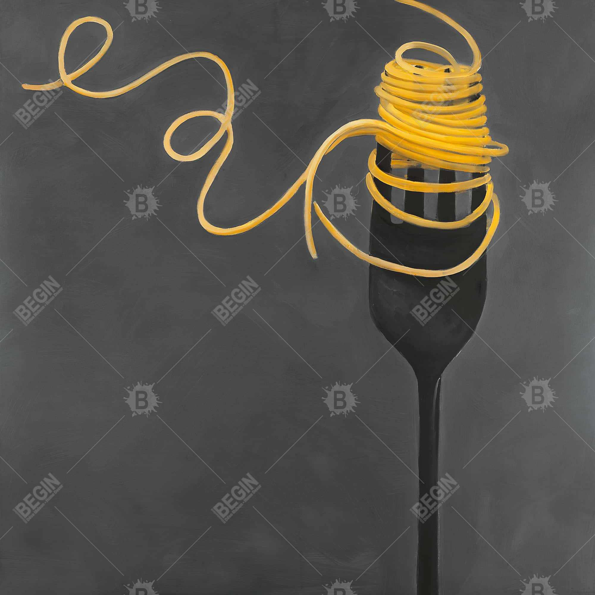 Spaghetti pasta around a fork