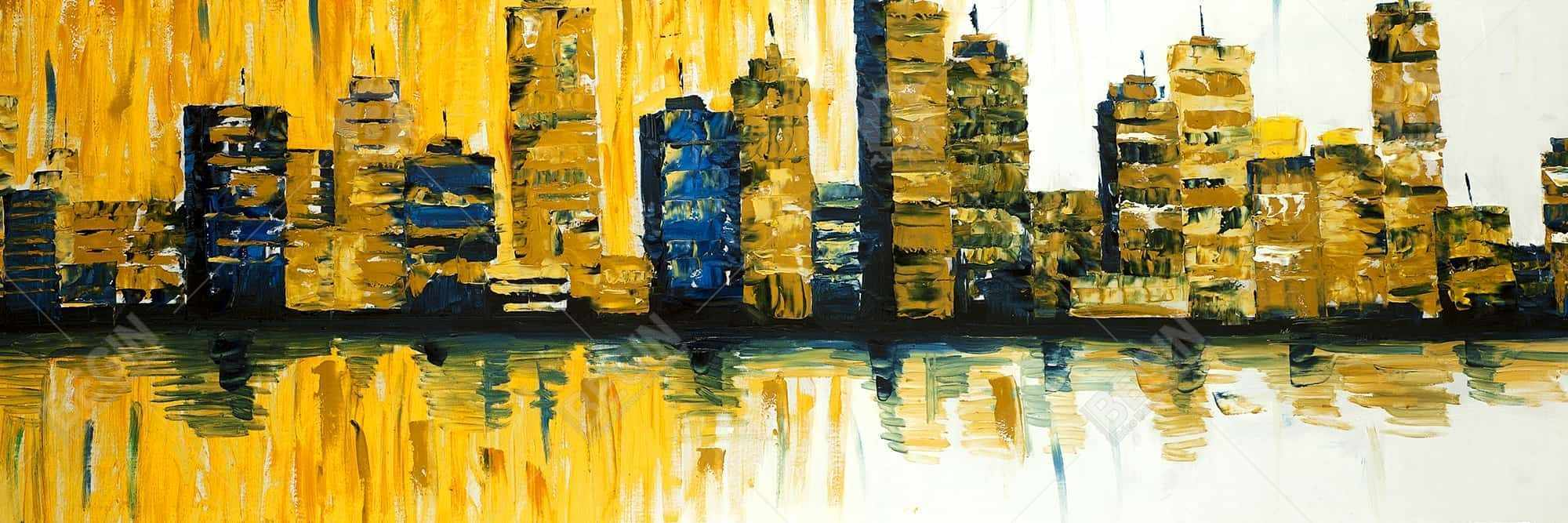 Yellow abstract skyscrapers