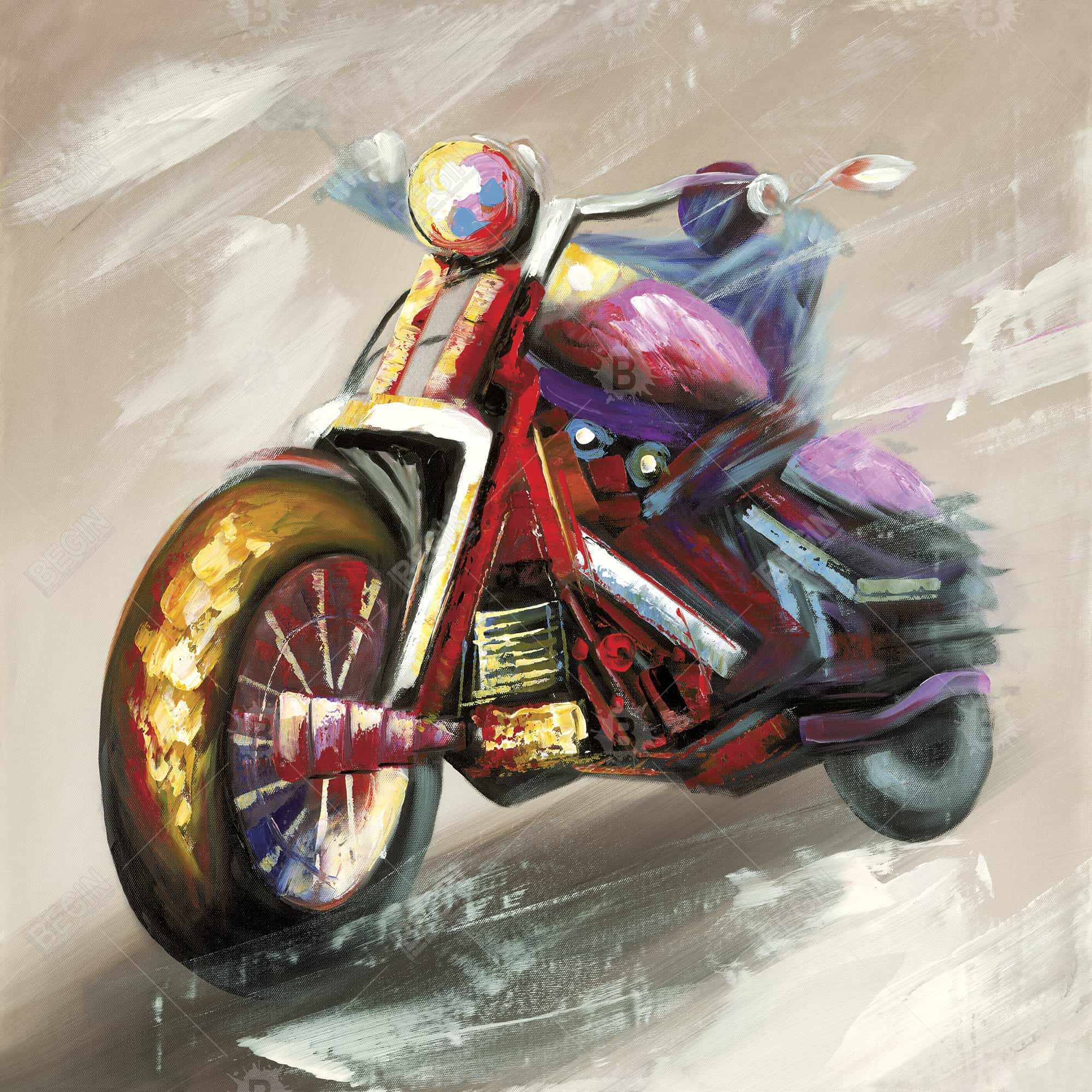 Abstract motorcycle