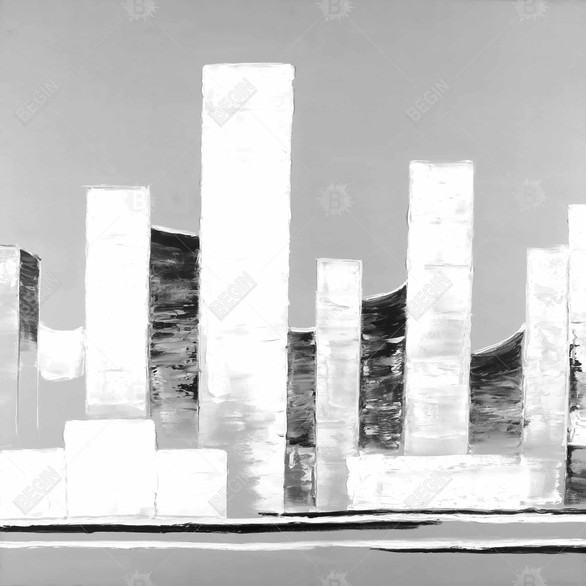 Minimalist abstract buildings