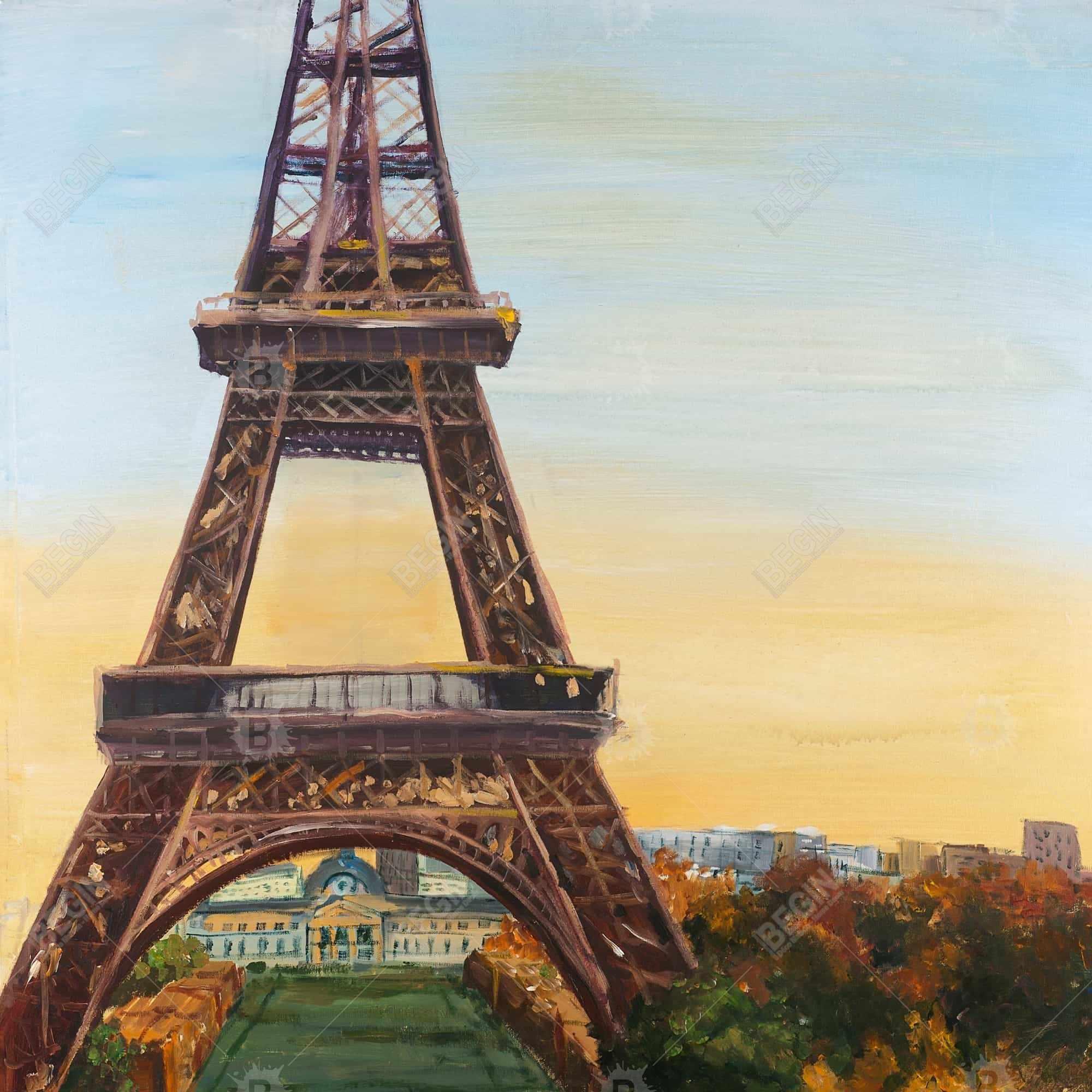 Eiffel tower by dawn