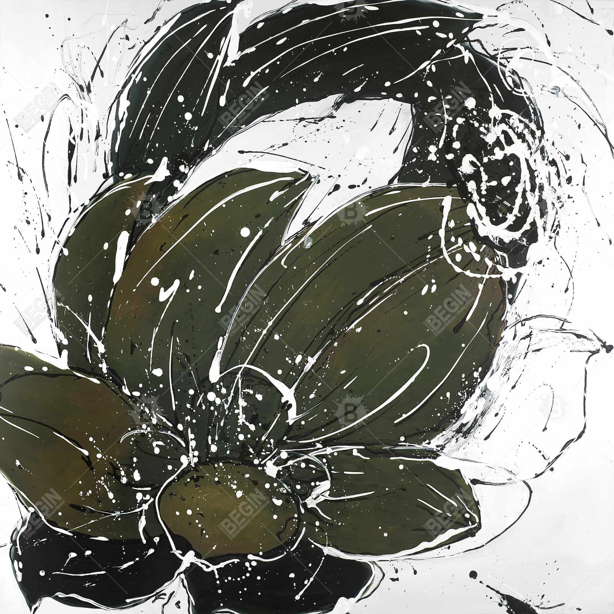 Abstract flower with paint splash