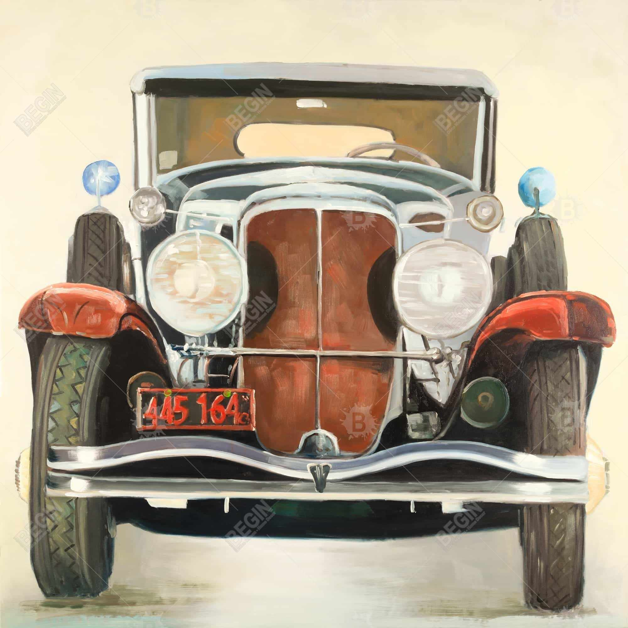 Vintage luxury car