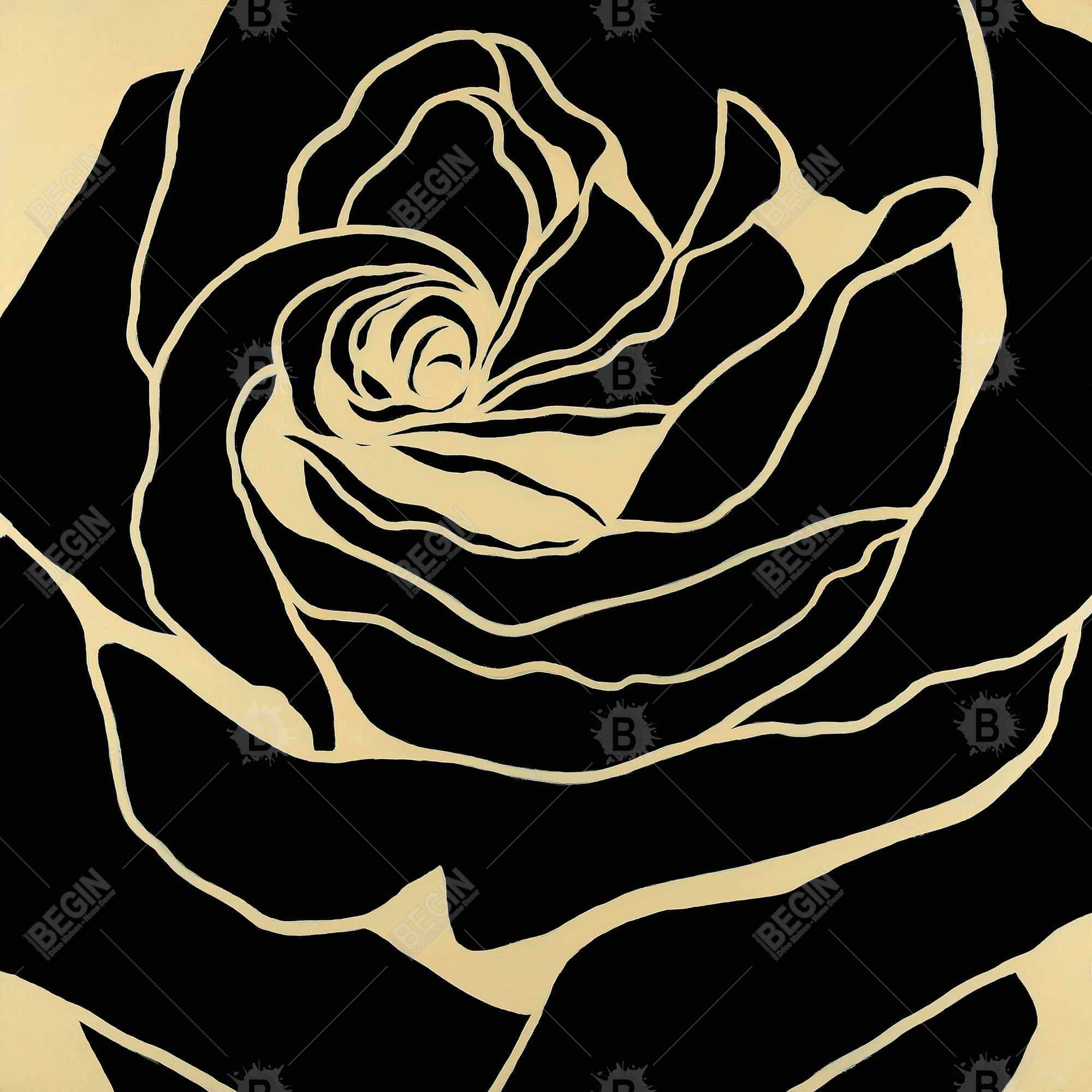 Cutout black rose