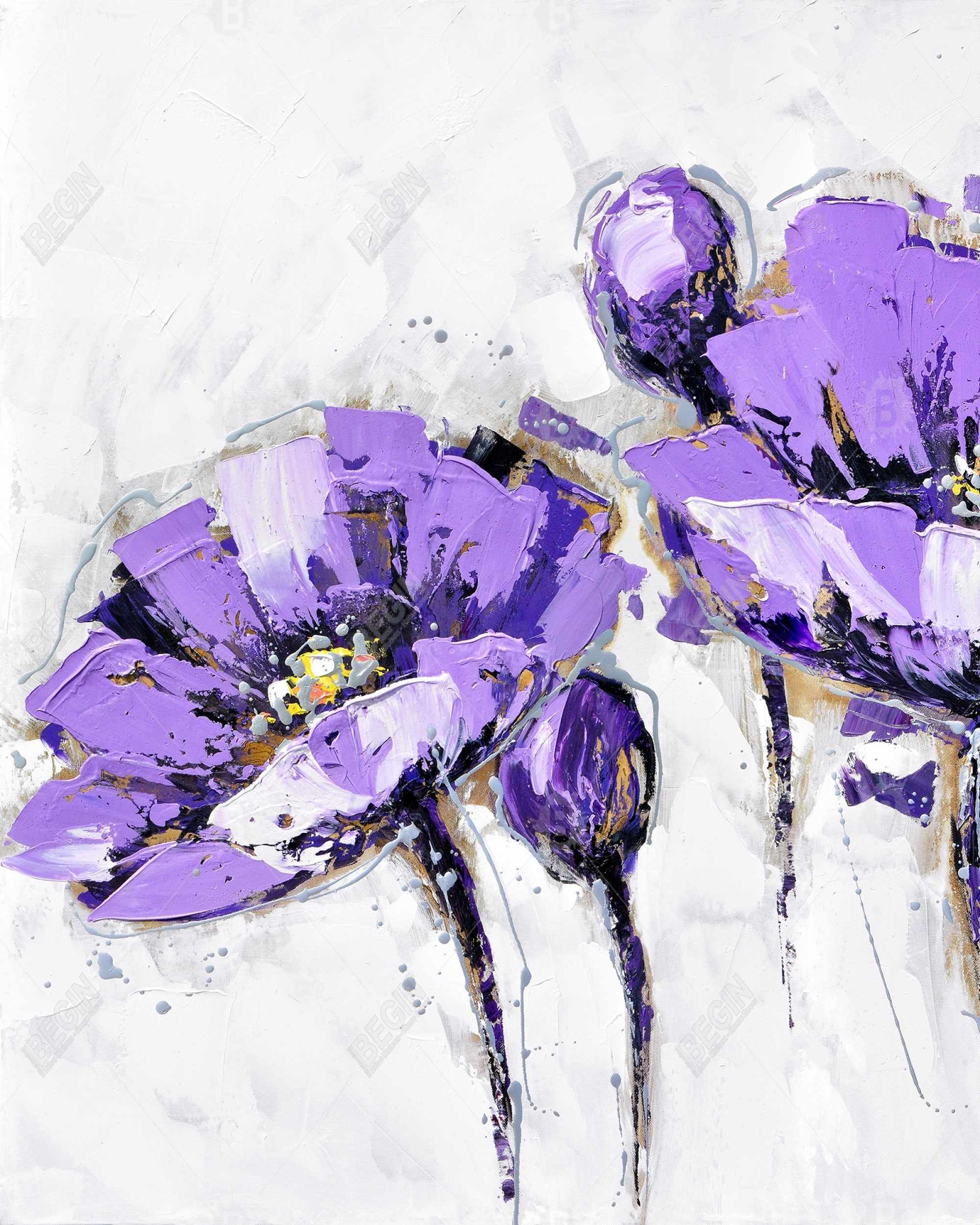 Purple abstract flowers