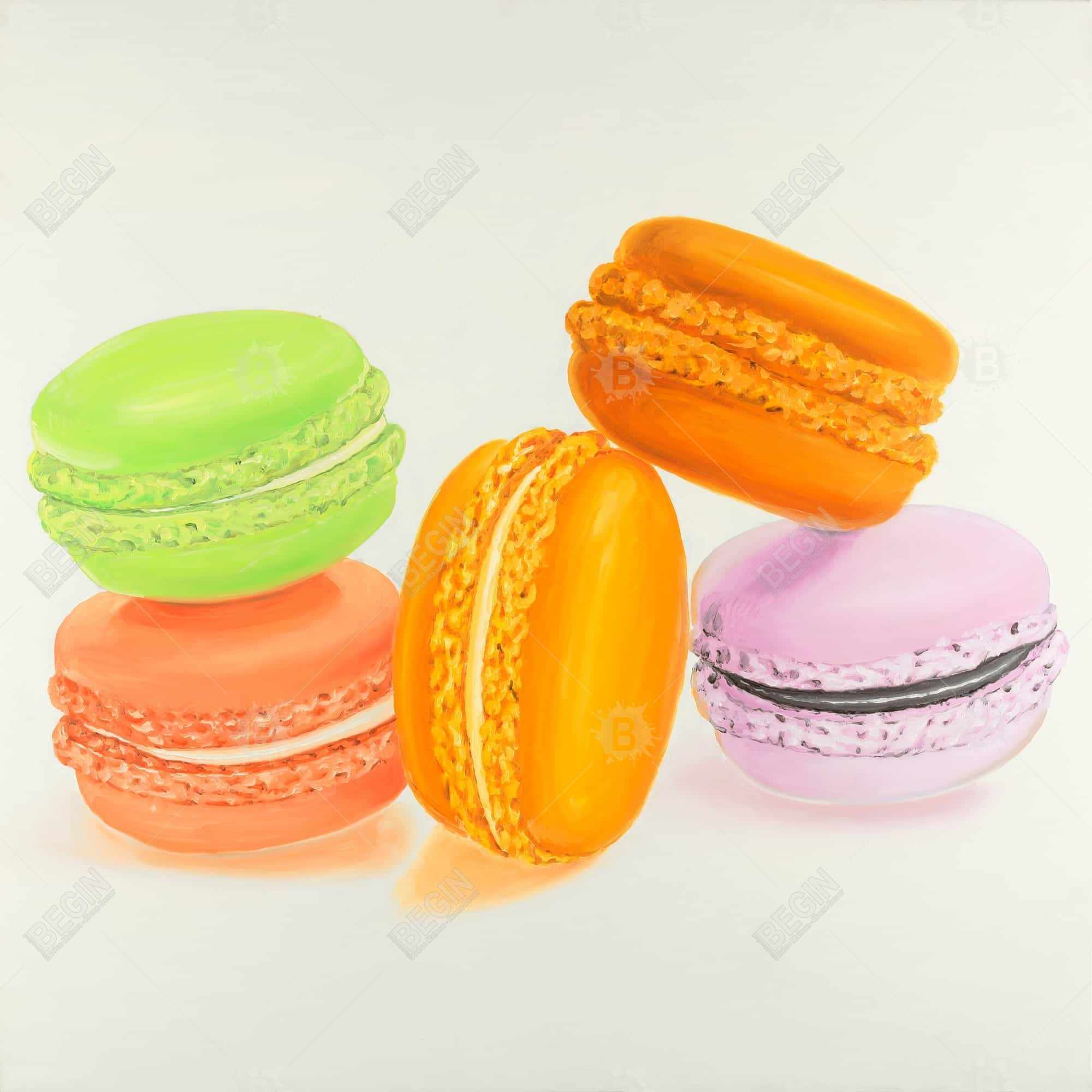 Small bites of macaroons