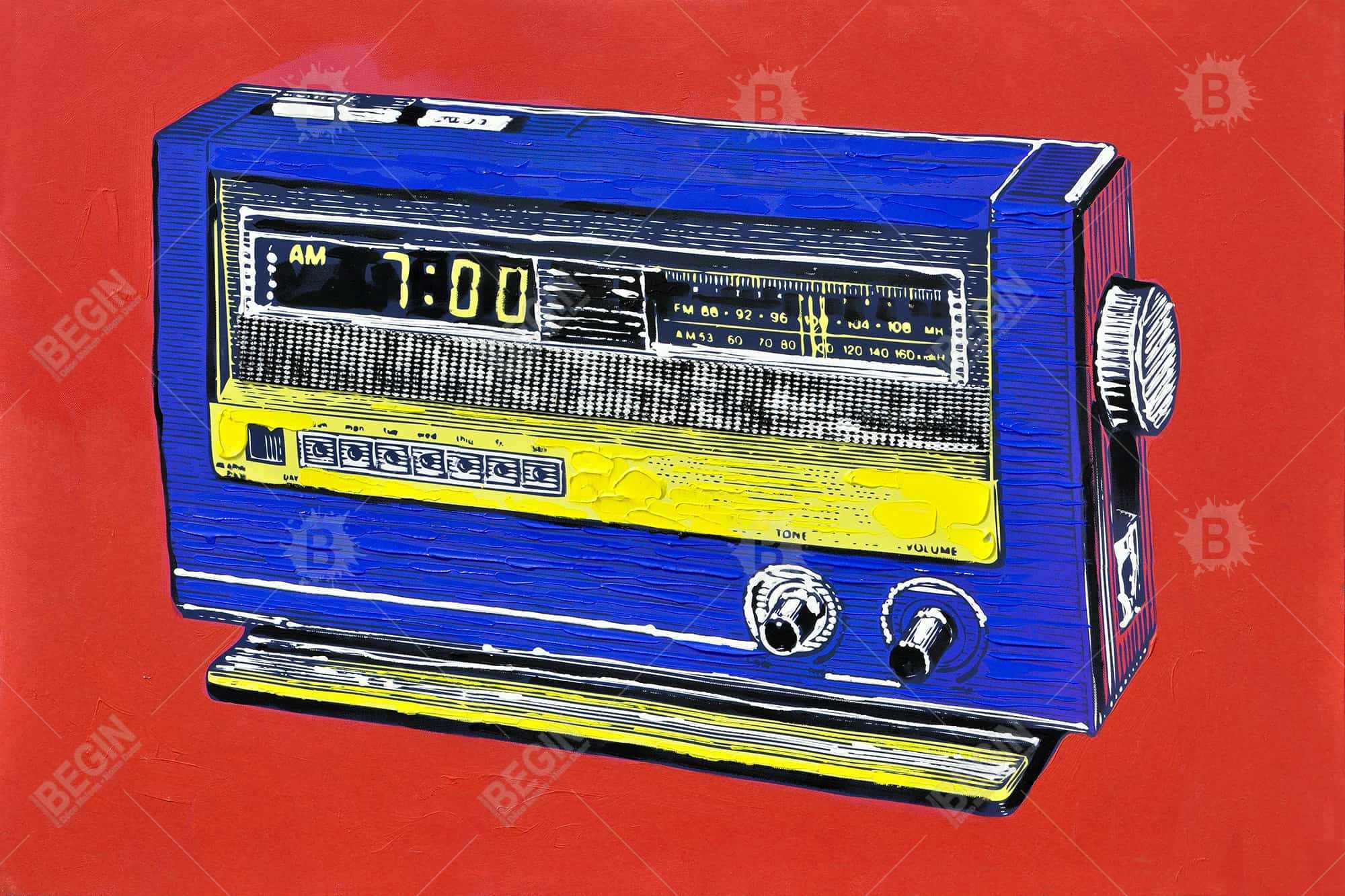 Retro radio alarm