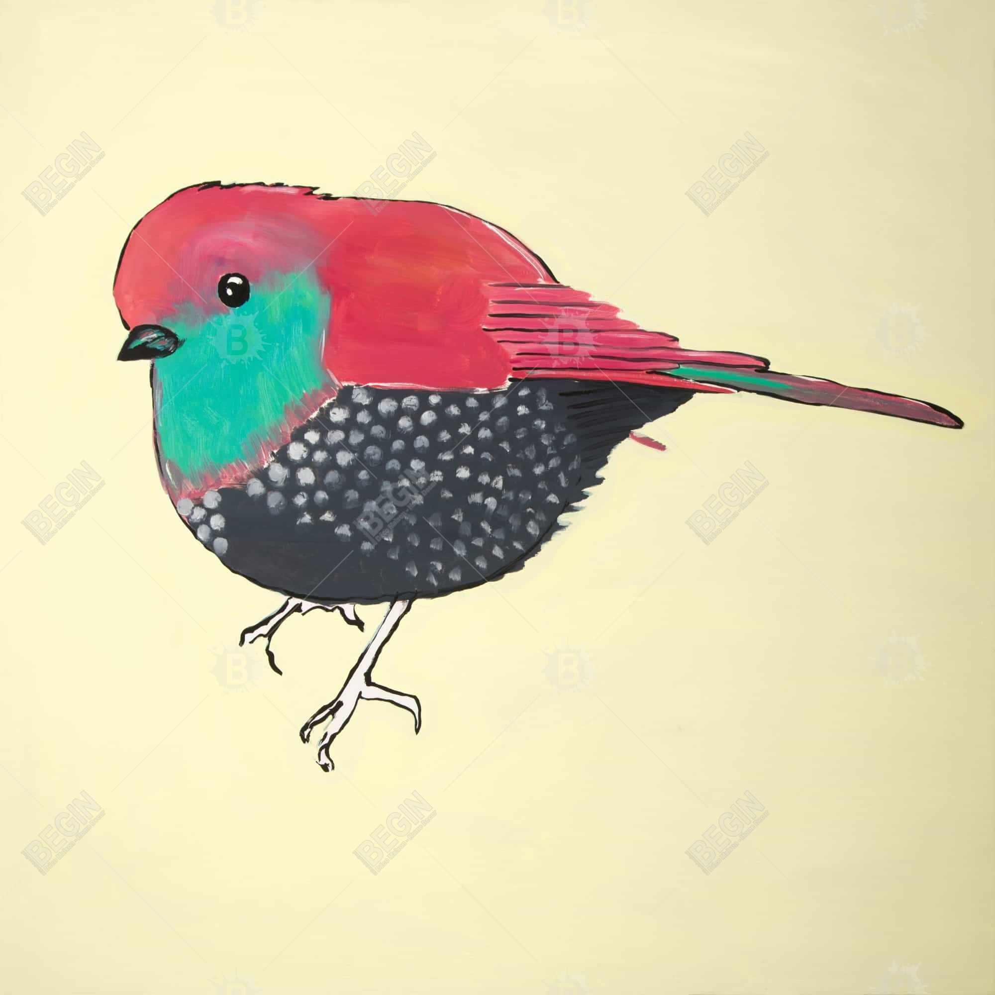 Little purple bird illustration