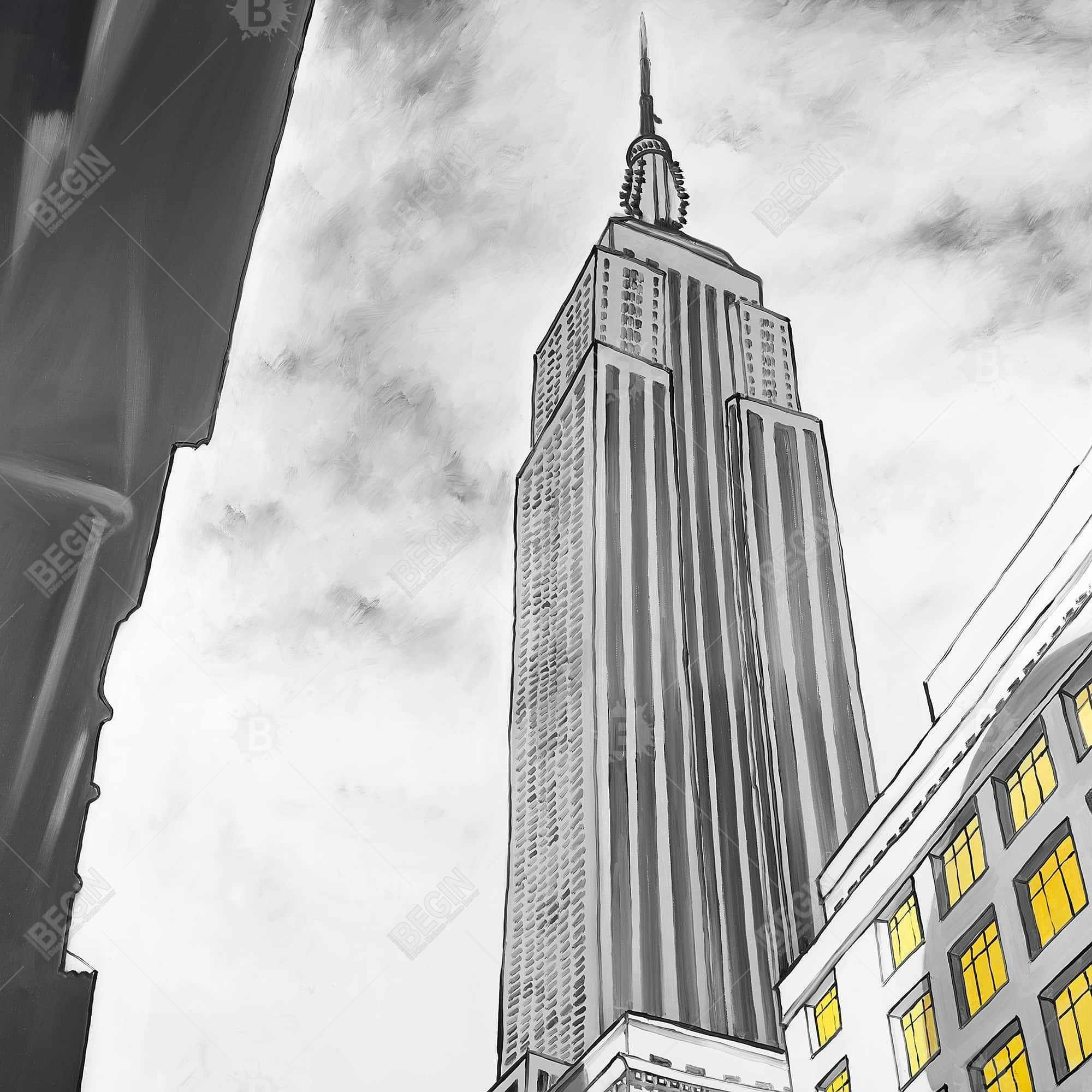 Tracé de l'empire state building