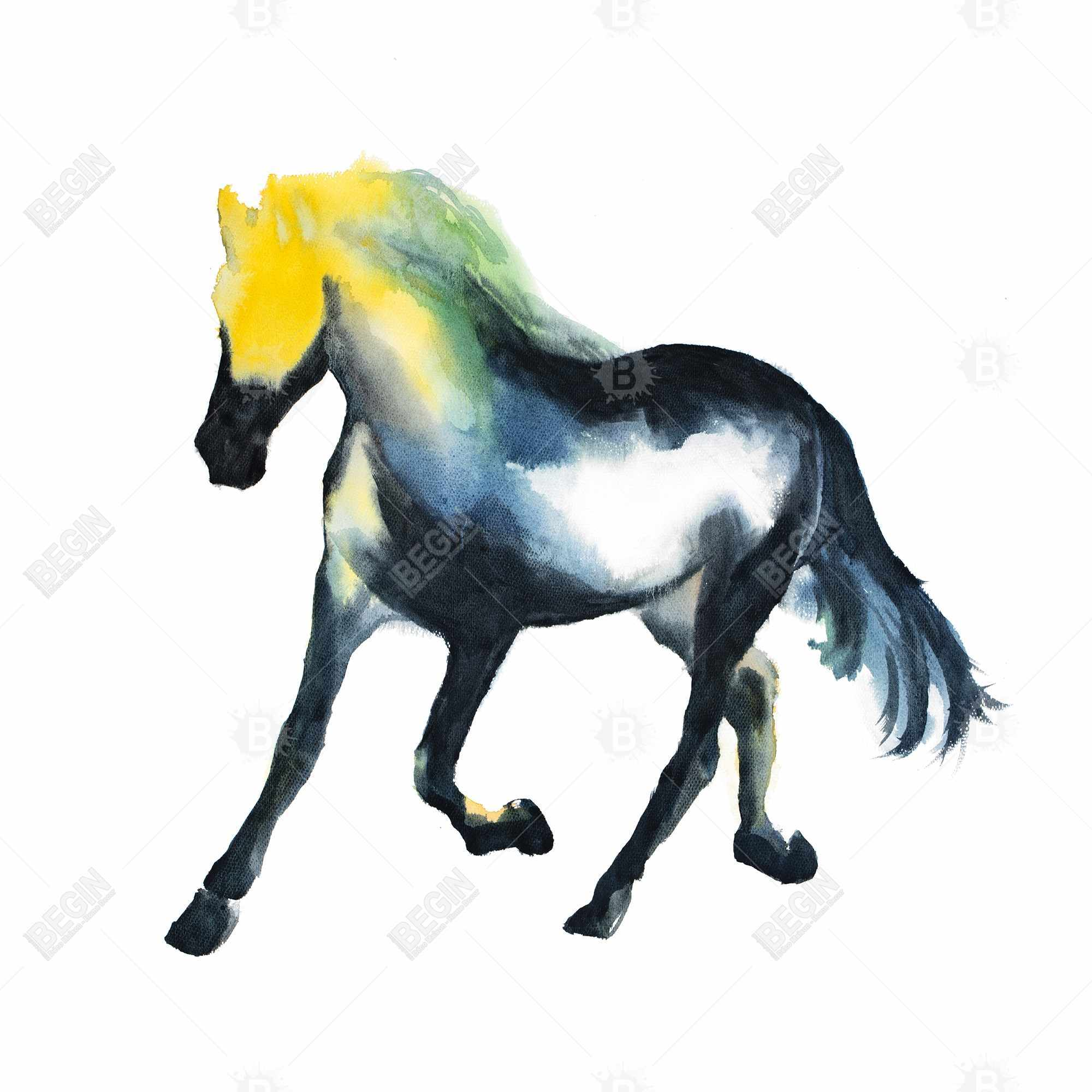 Galloping colorful horse