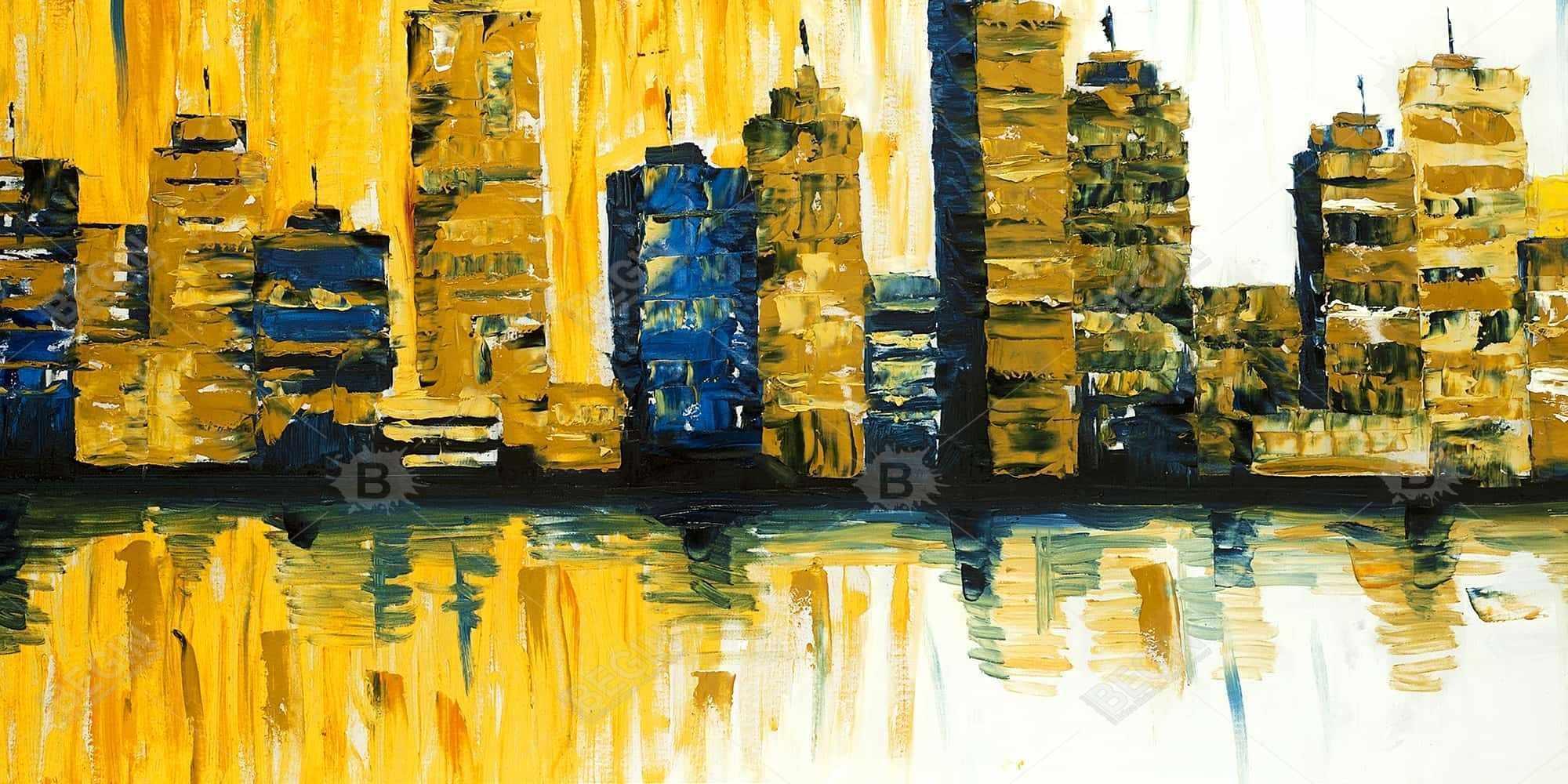 Yellow abstract skyscraper 1