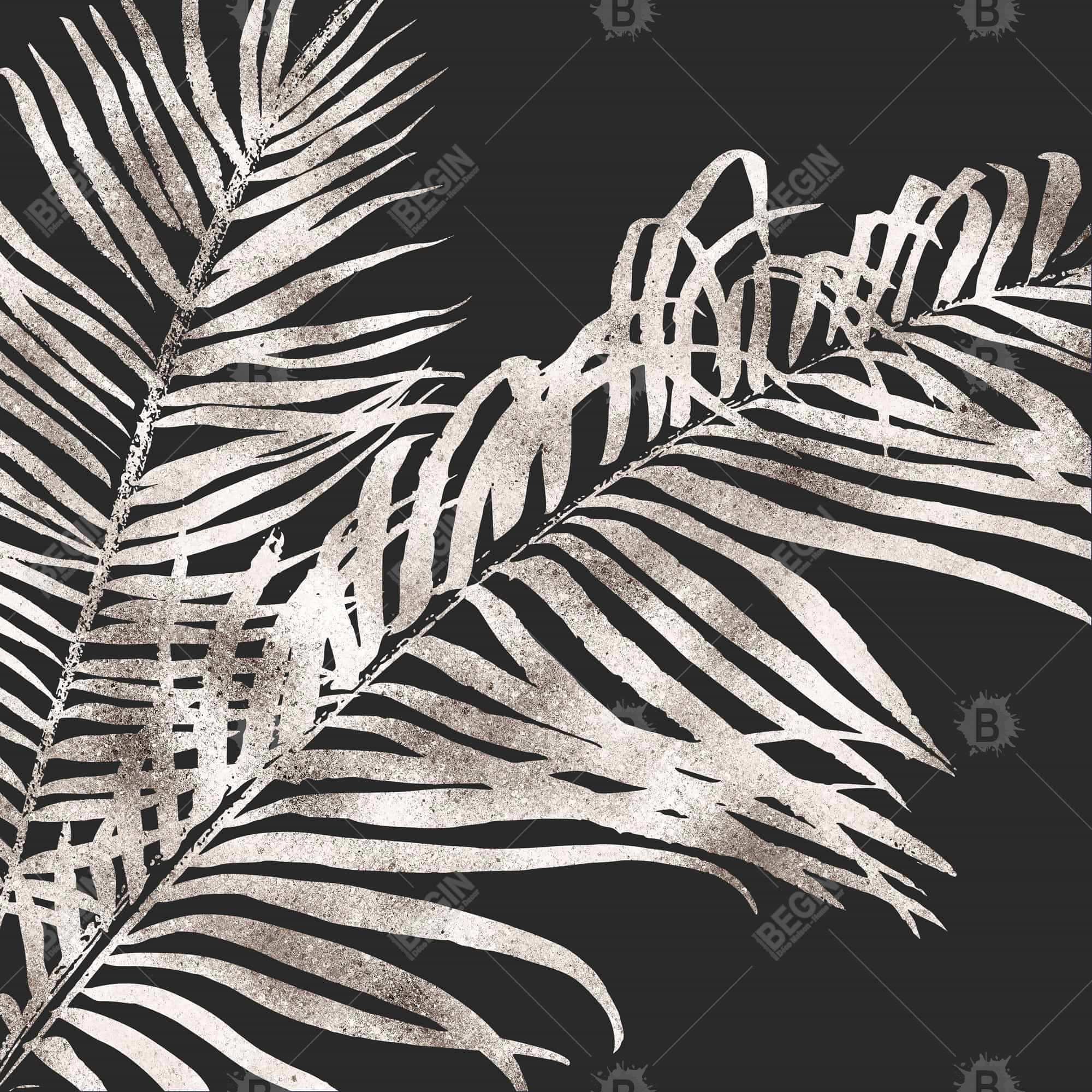Tropical gold leaves