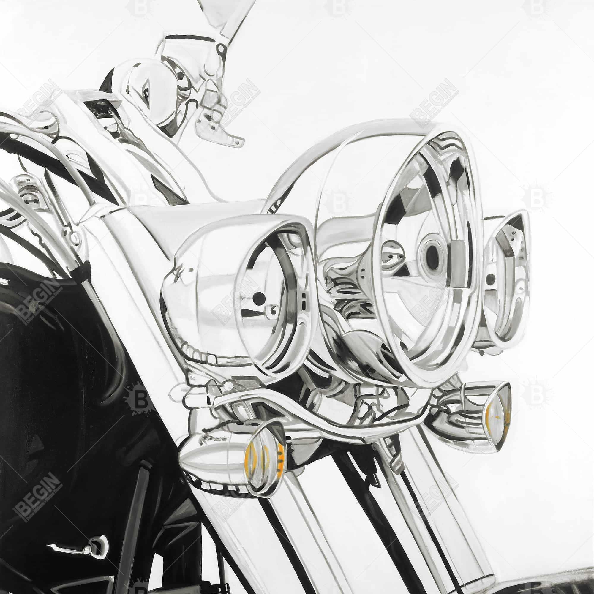 Lumière d'une moto