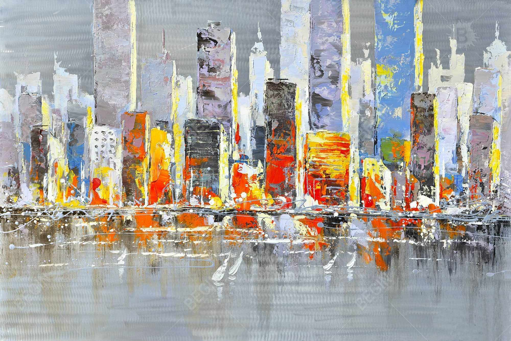 Color splash cityscape