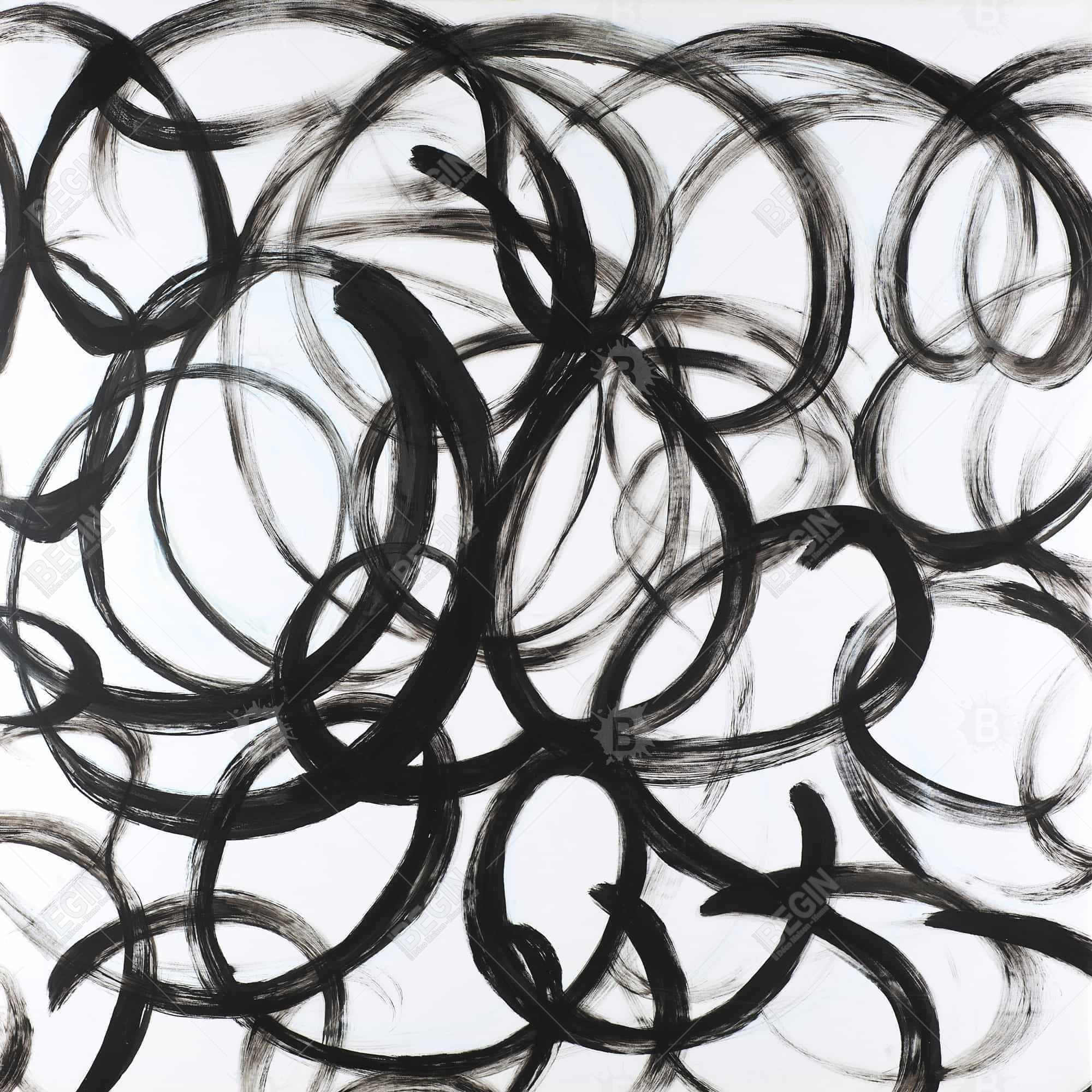 Abstract curly lines