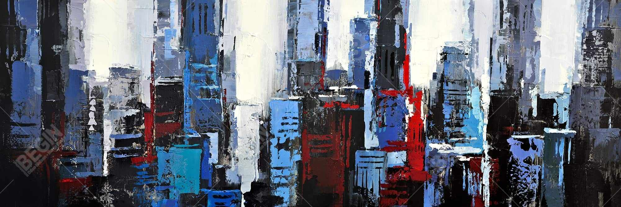 Abstract blue city