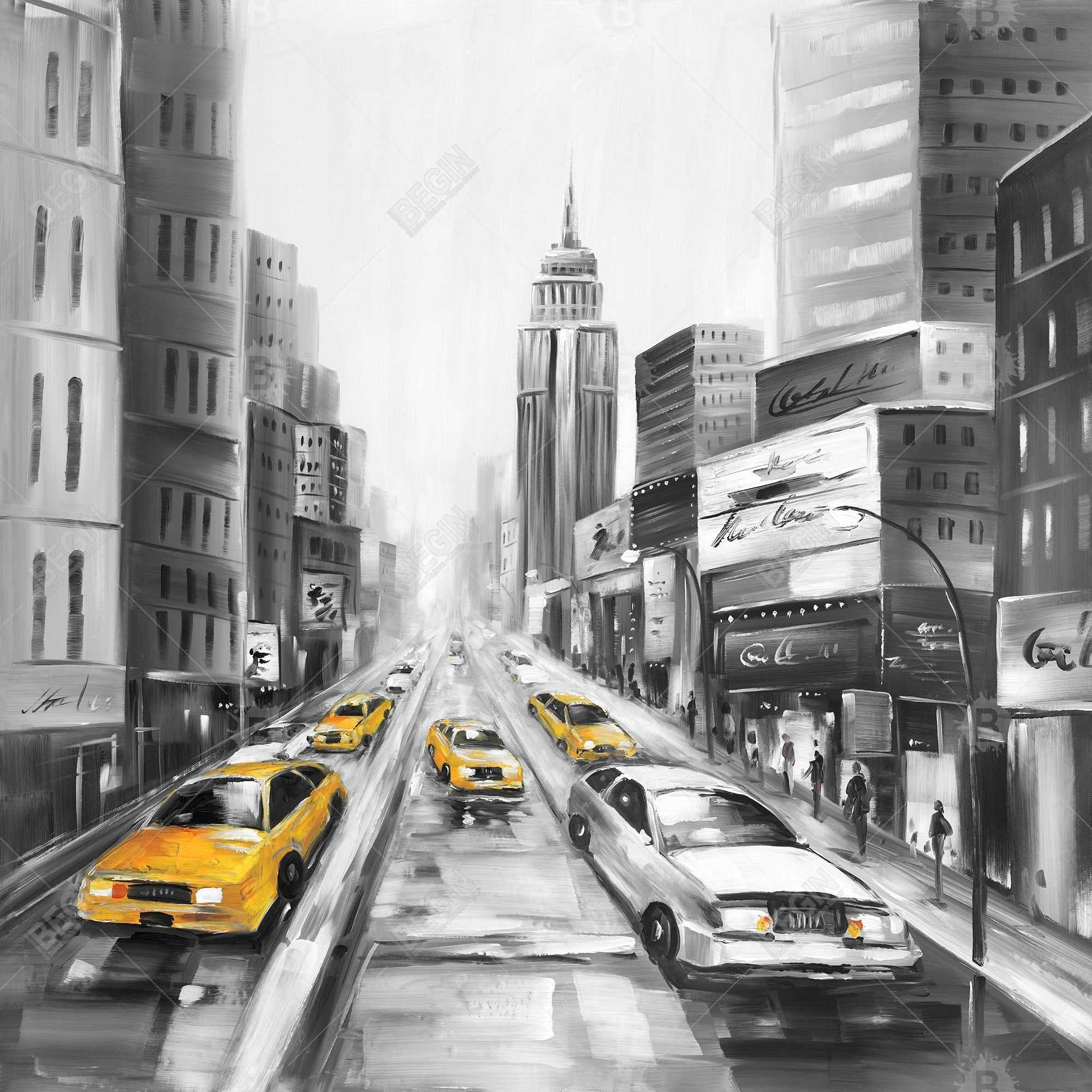Yellow taxis in new york
