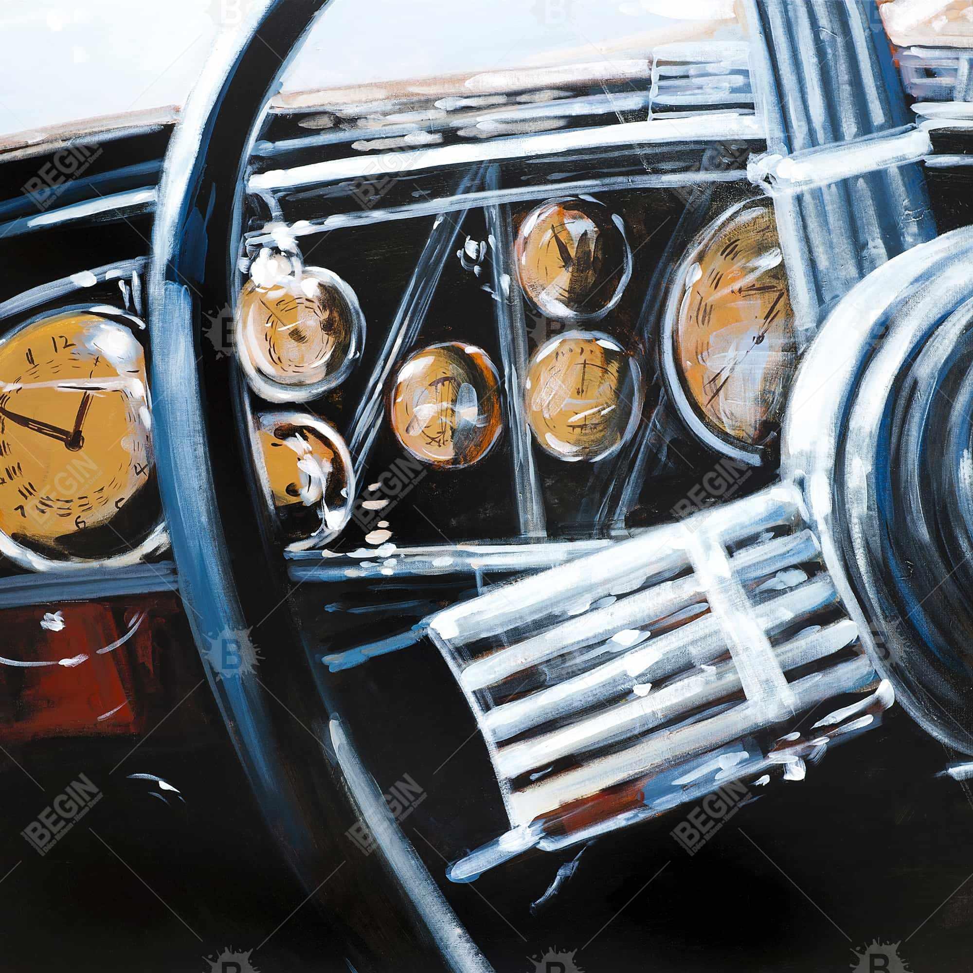 Intérieur de voiture vintage
