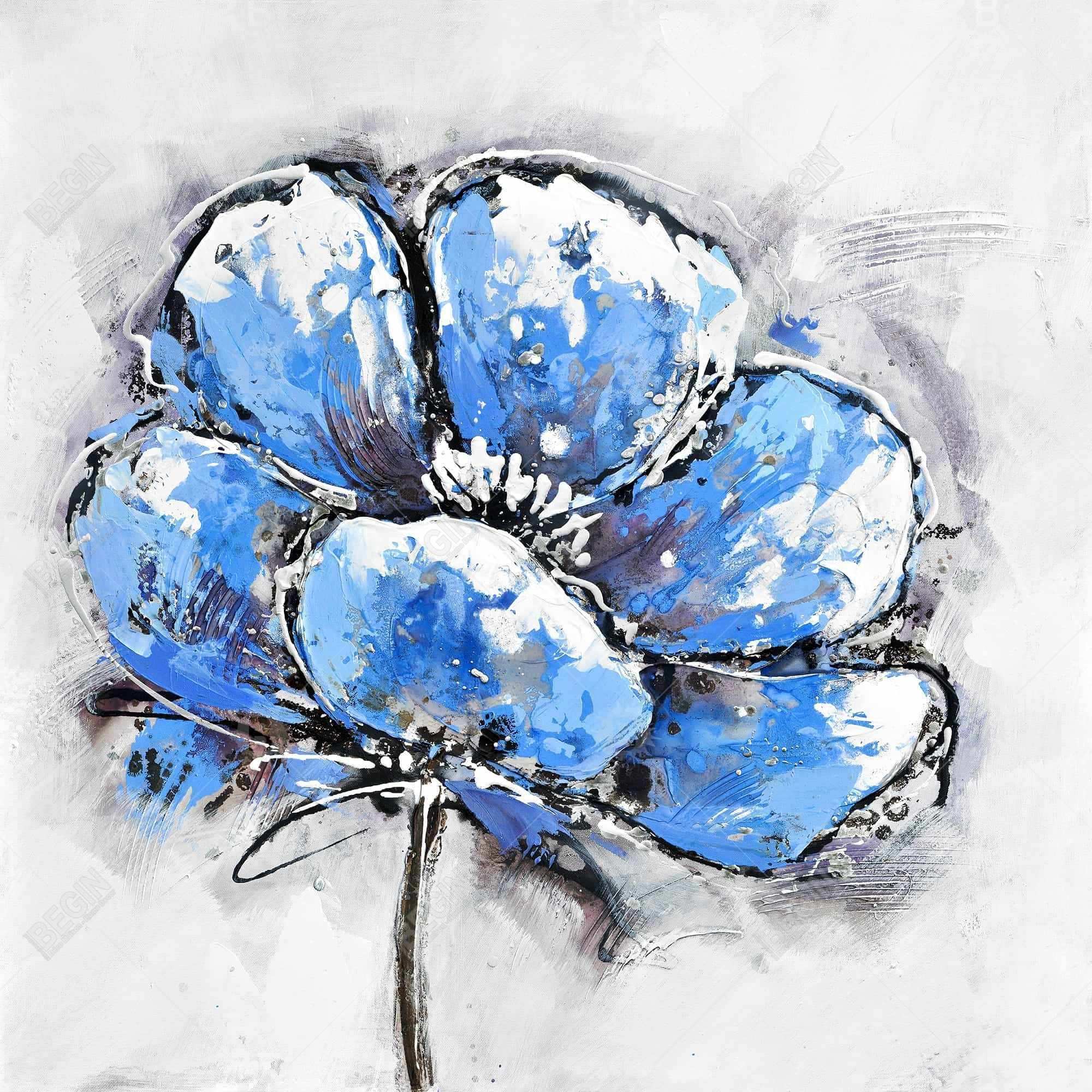Pétales bleue abstraite