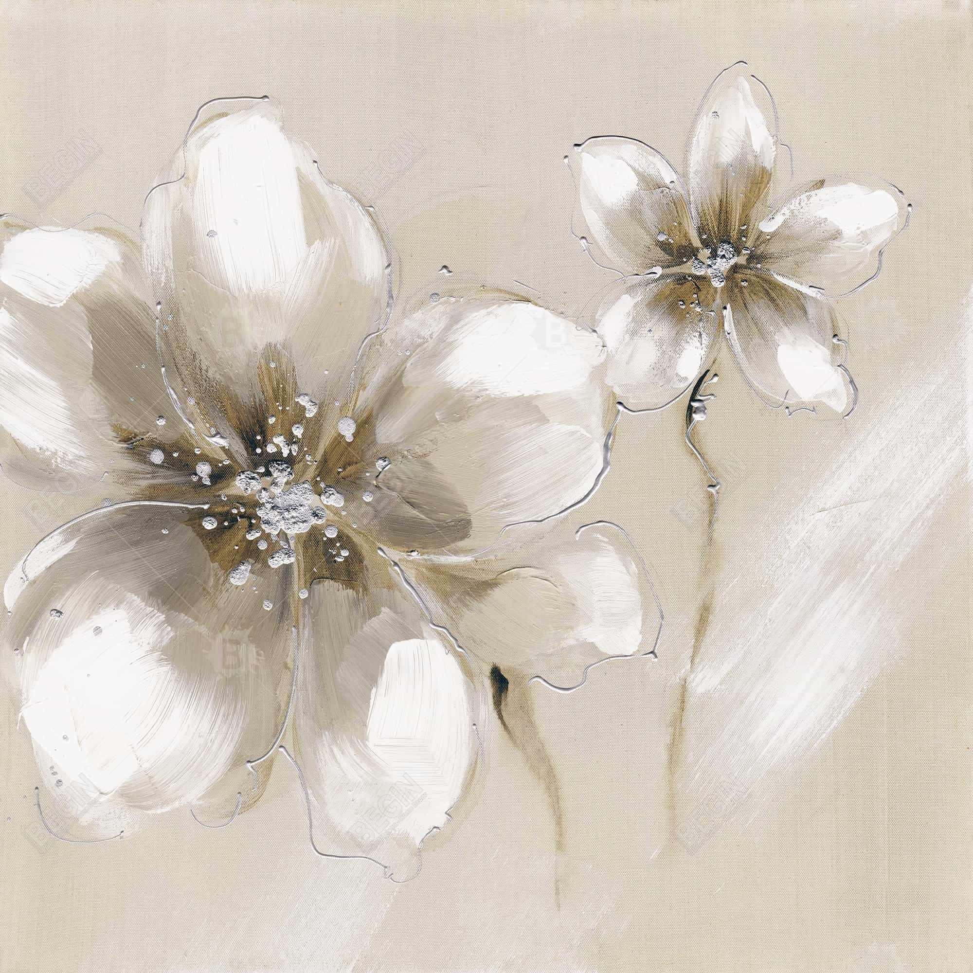 Two cream flowers