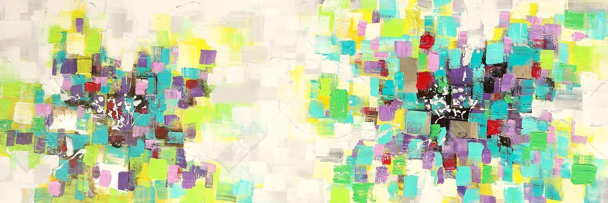 Abstract squares flowers