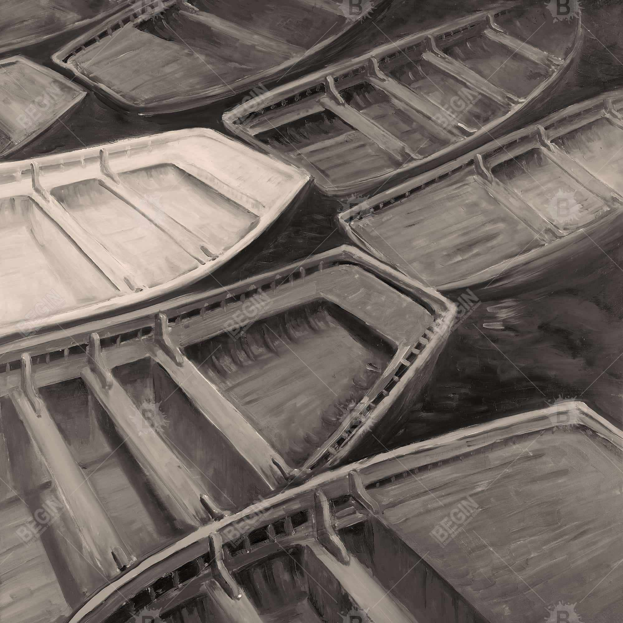 Small canoes sepia style