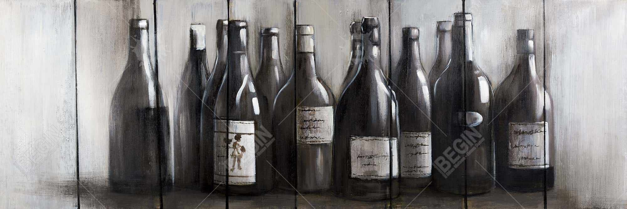 Bottles of wine on wood