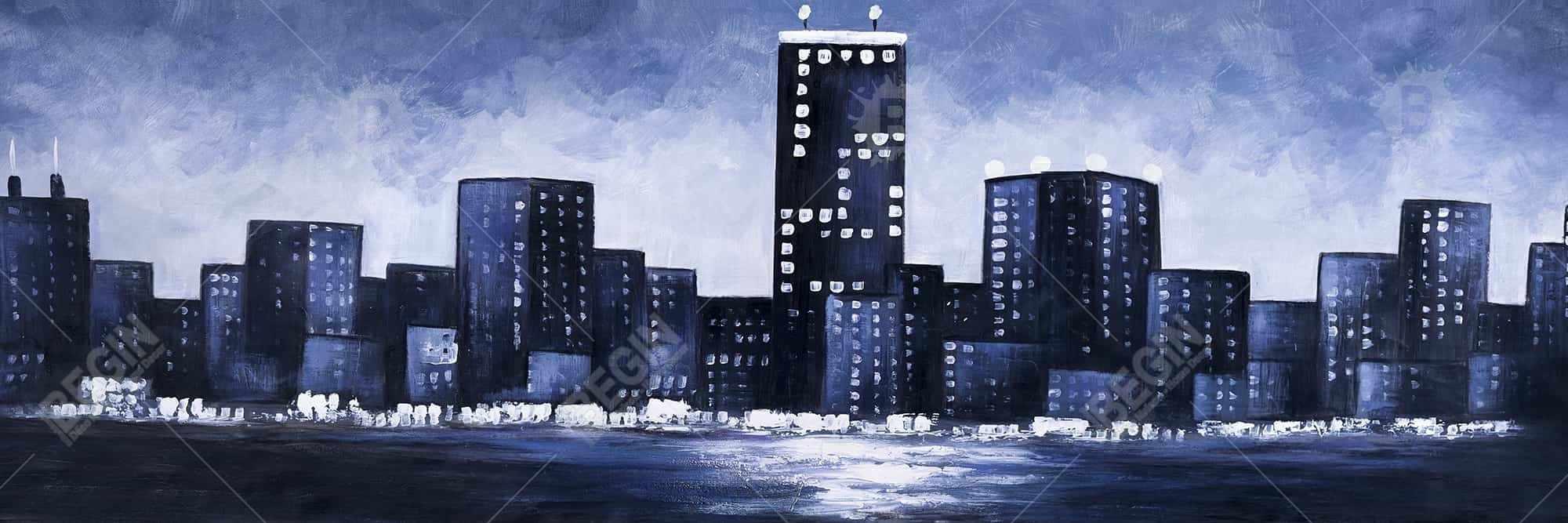Towering over buildings