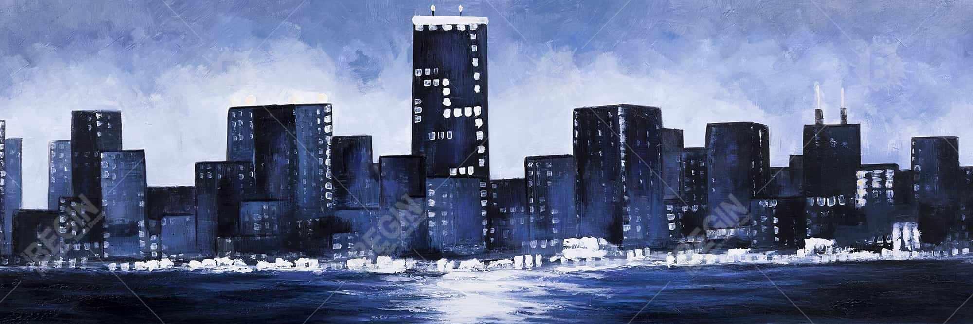 Marine blue city