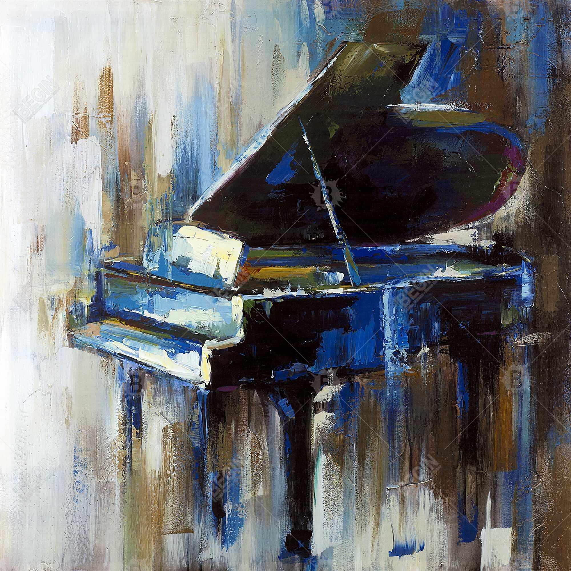 Piano à queue abstrait