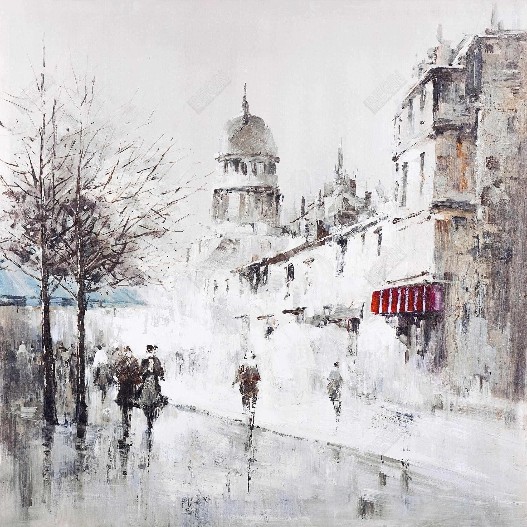 Gray city street
