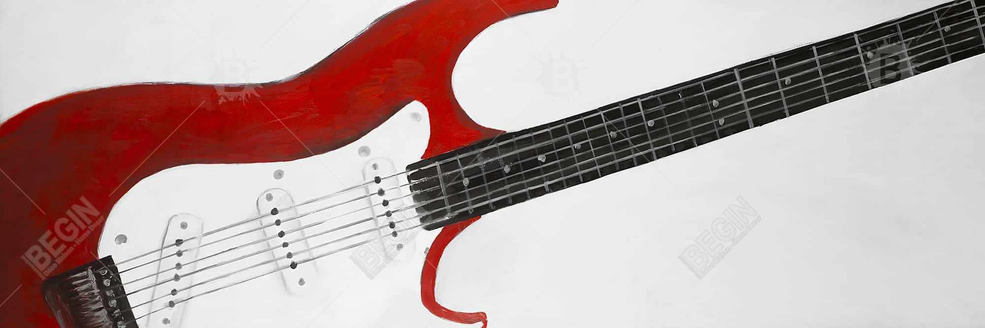 Red rock guitar