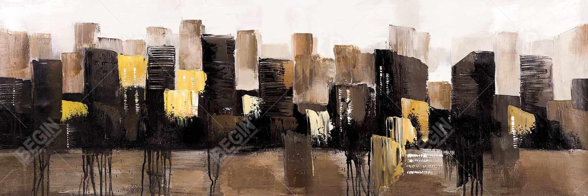 Earthy tones abstract cityscape