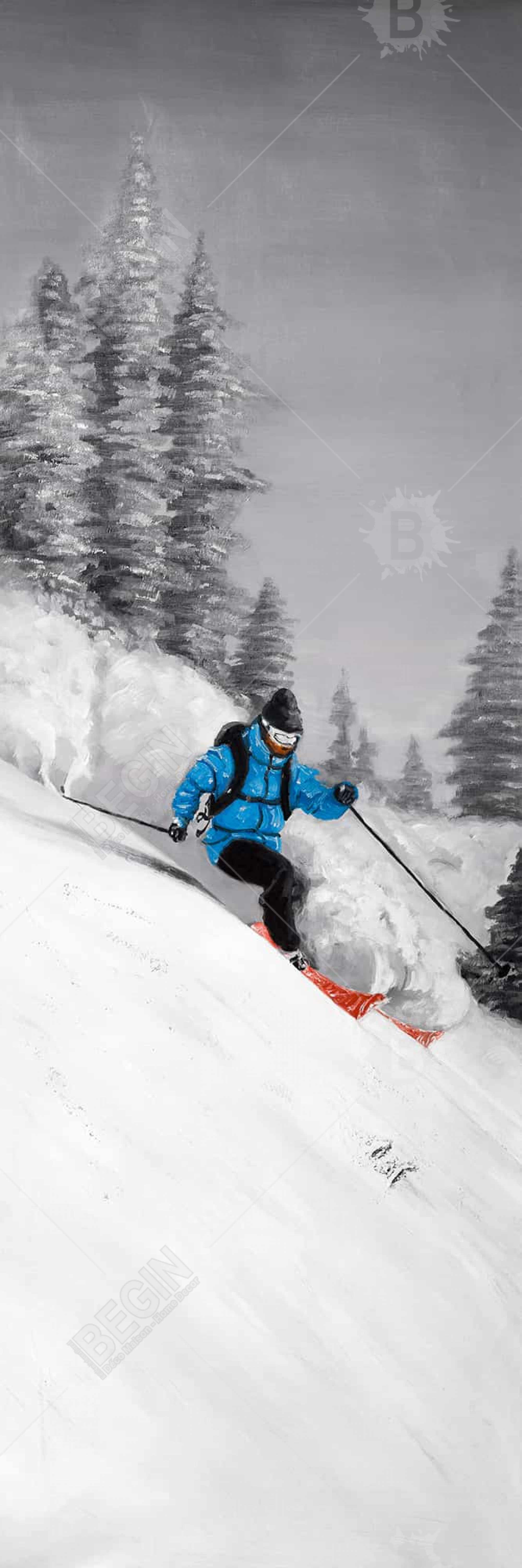 Man skiing in mountain
