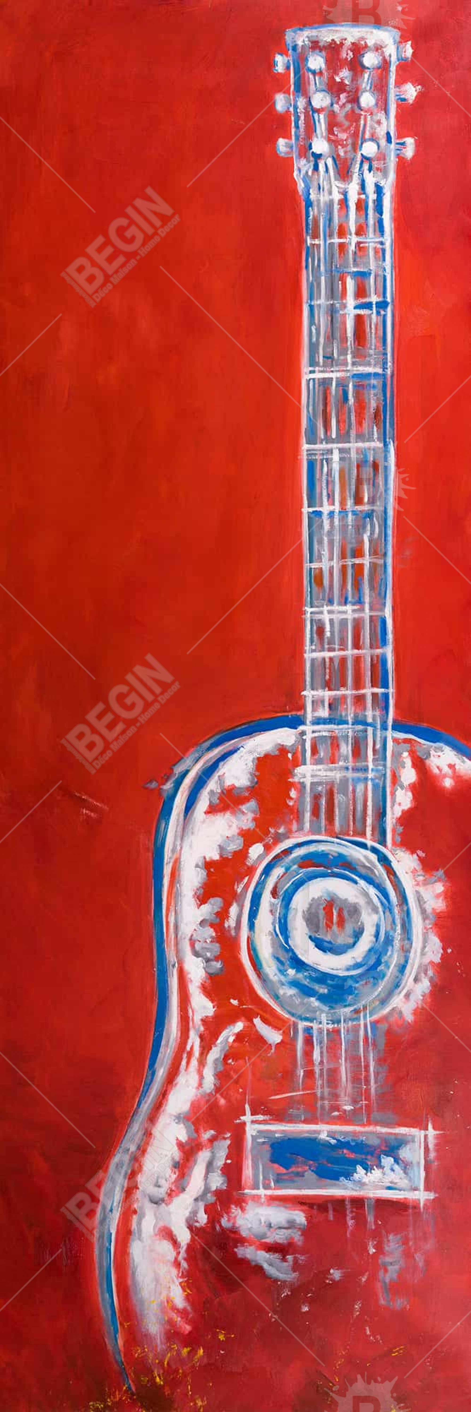 Modern red abstract guitar