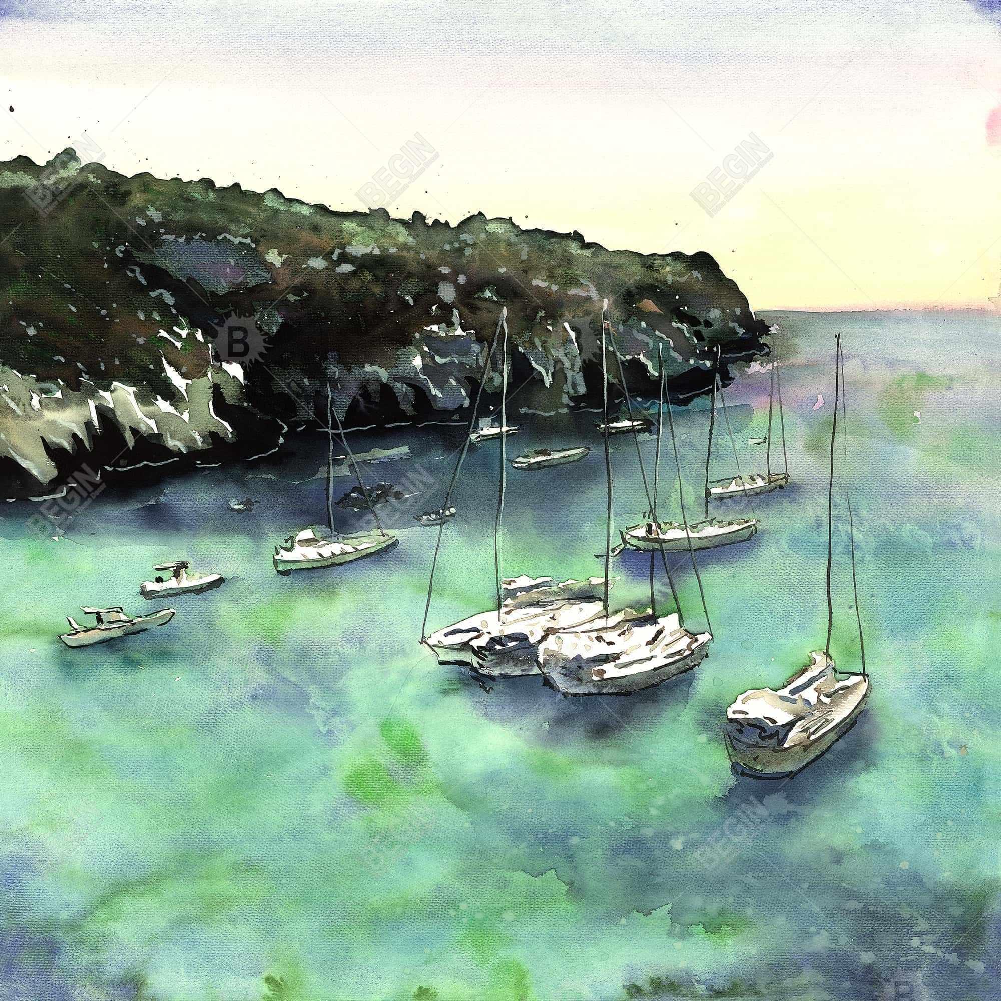 Boats in cala macarella