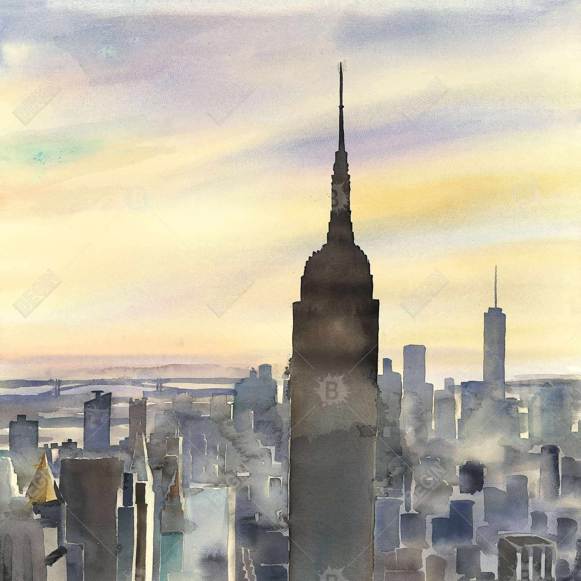 Couché de soleil sur new-york