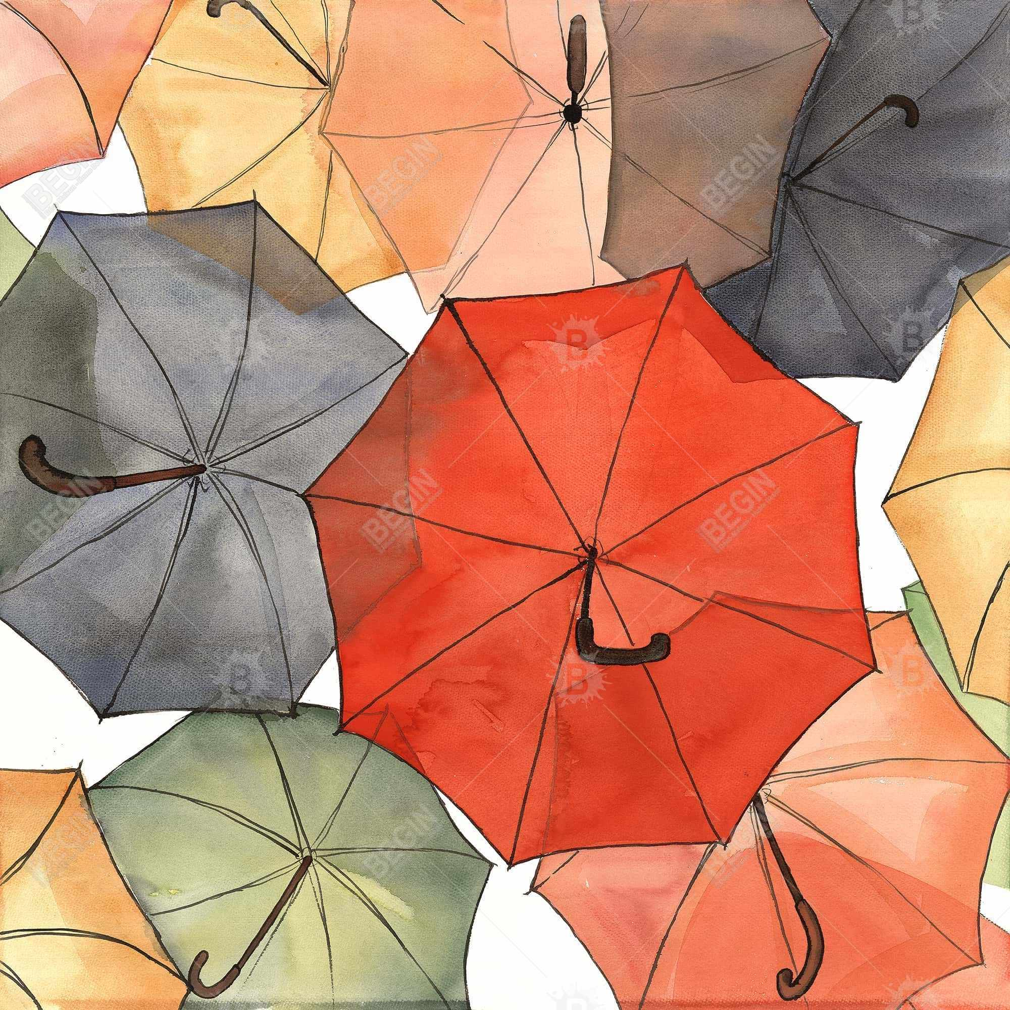 The umbrellas of petit champlain