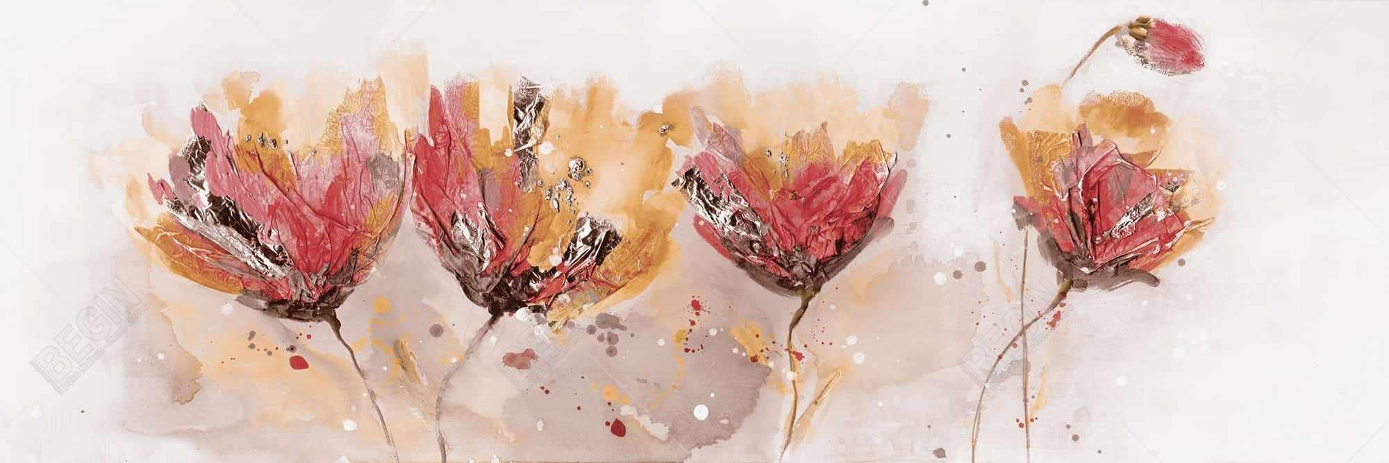 Four little flowers