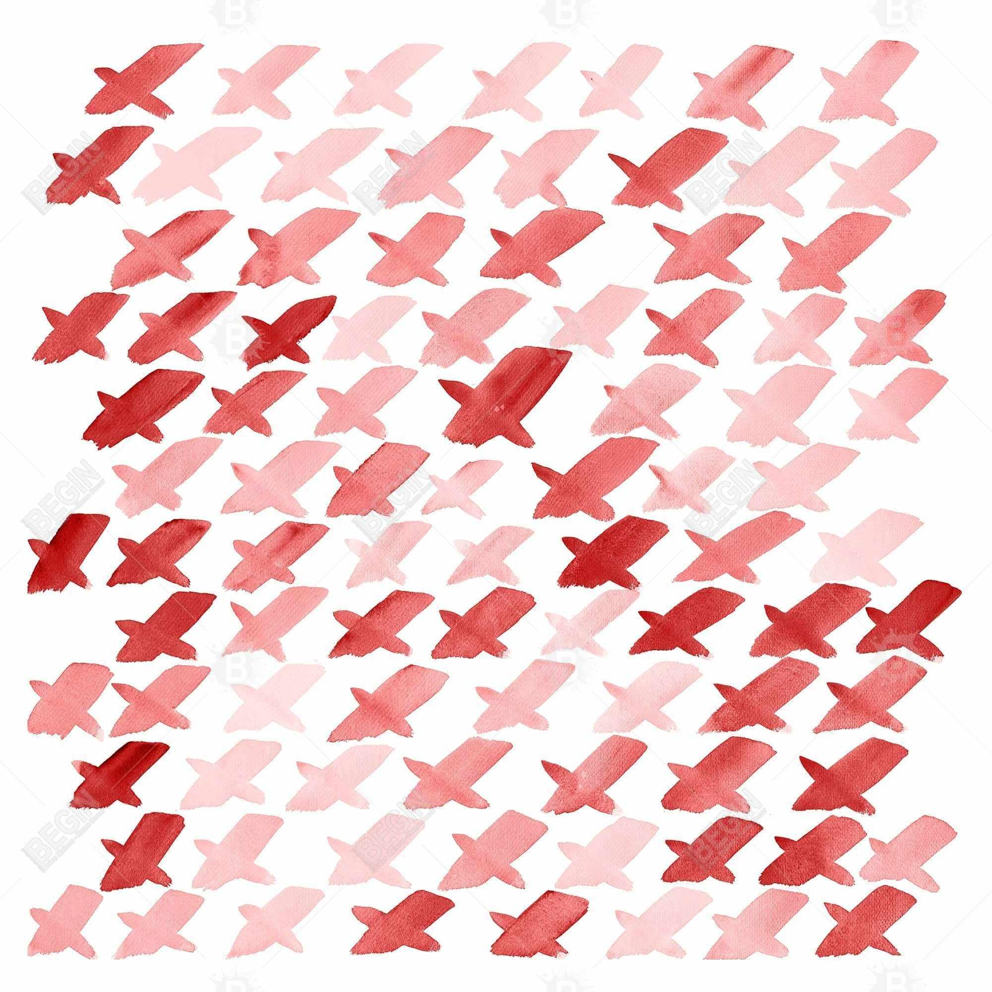 X red pattern