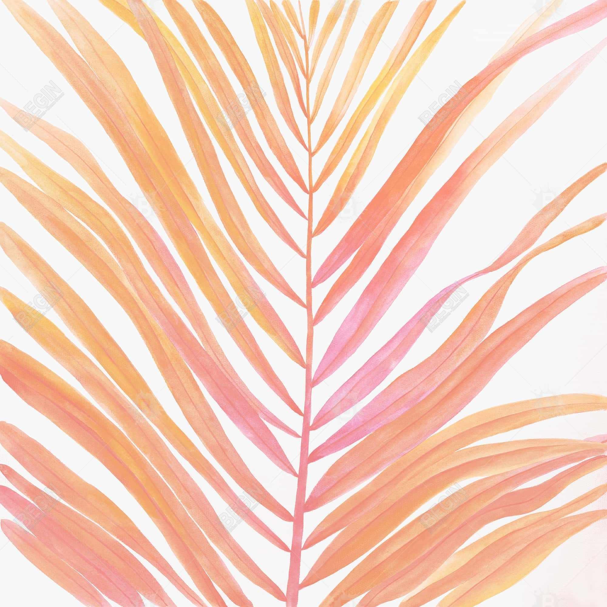 Glam palm leaf