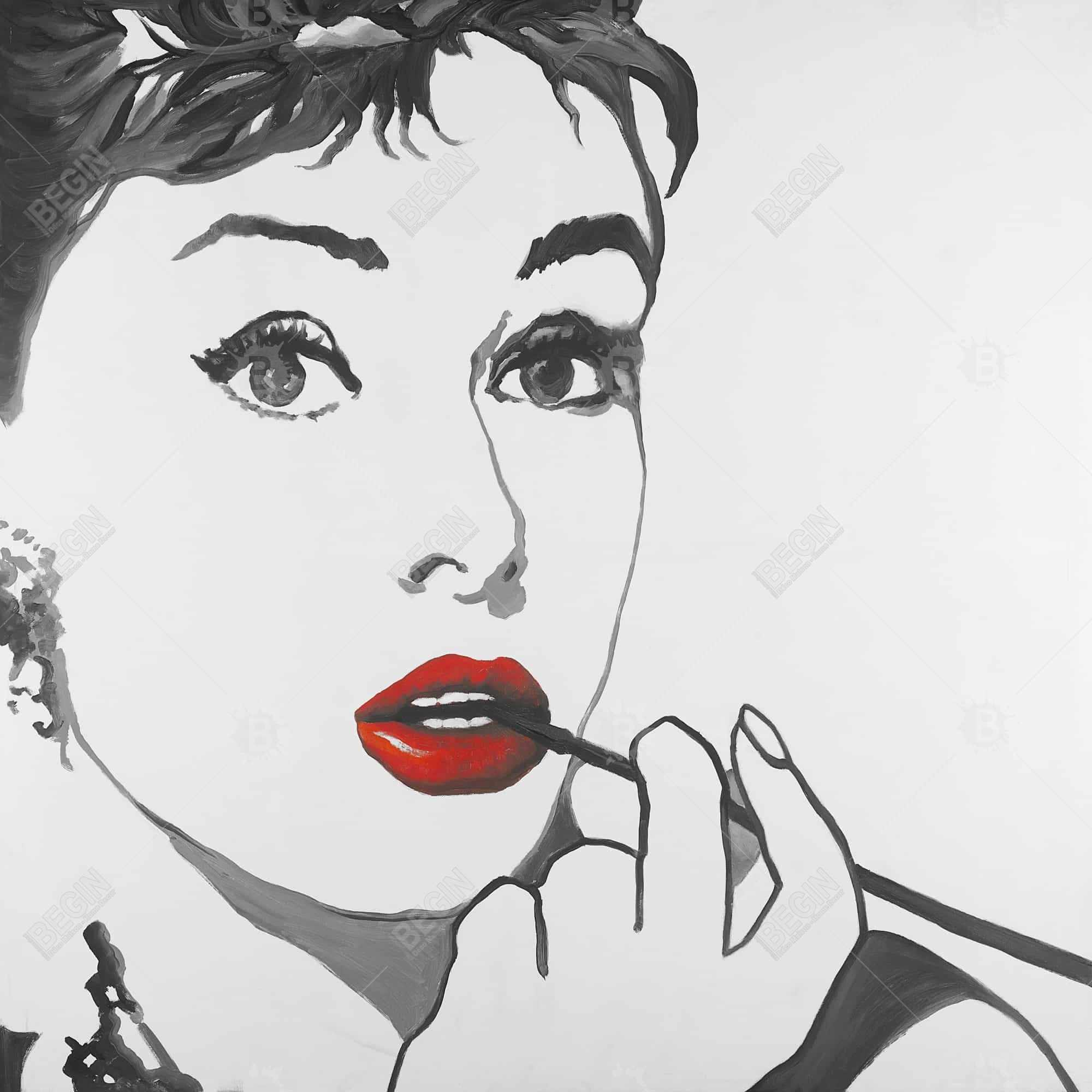 Audrey hepburn outline style