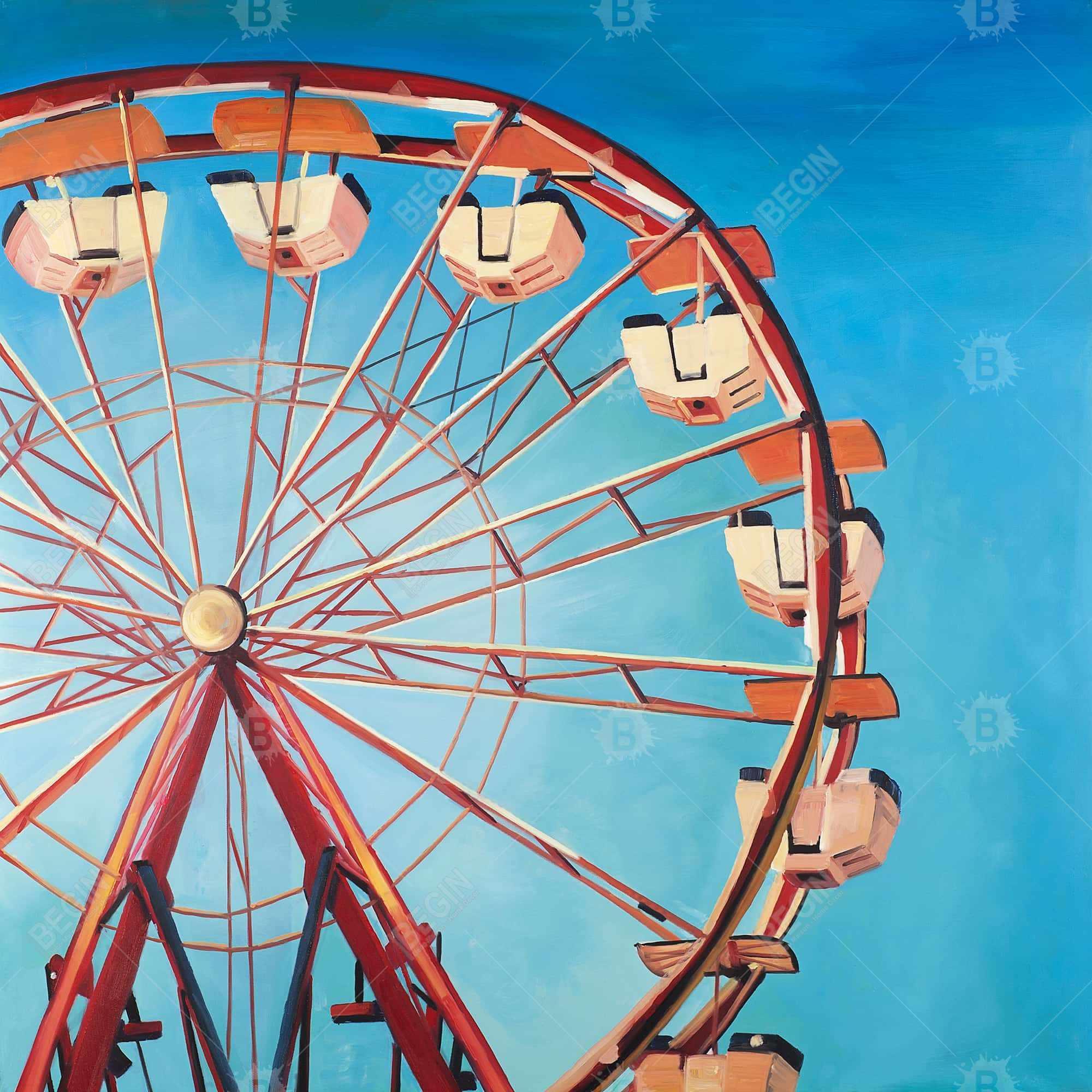 Ferris wheel by a beautiful day