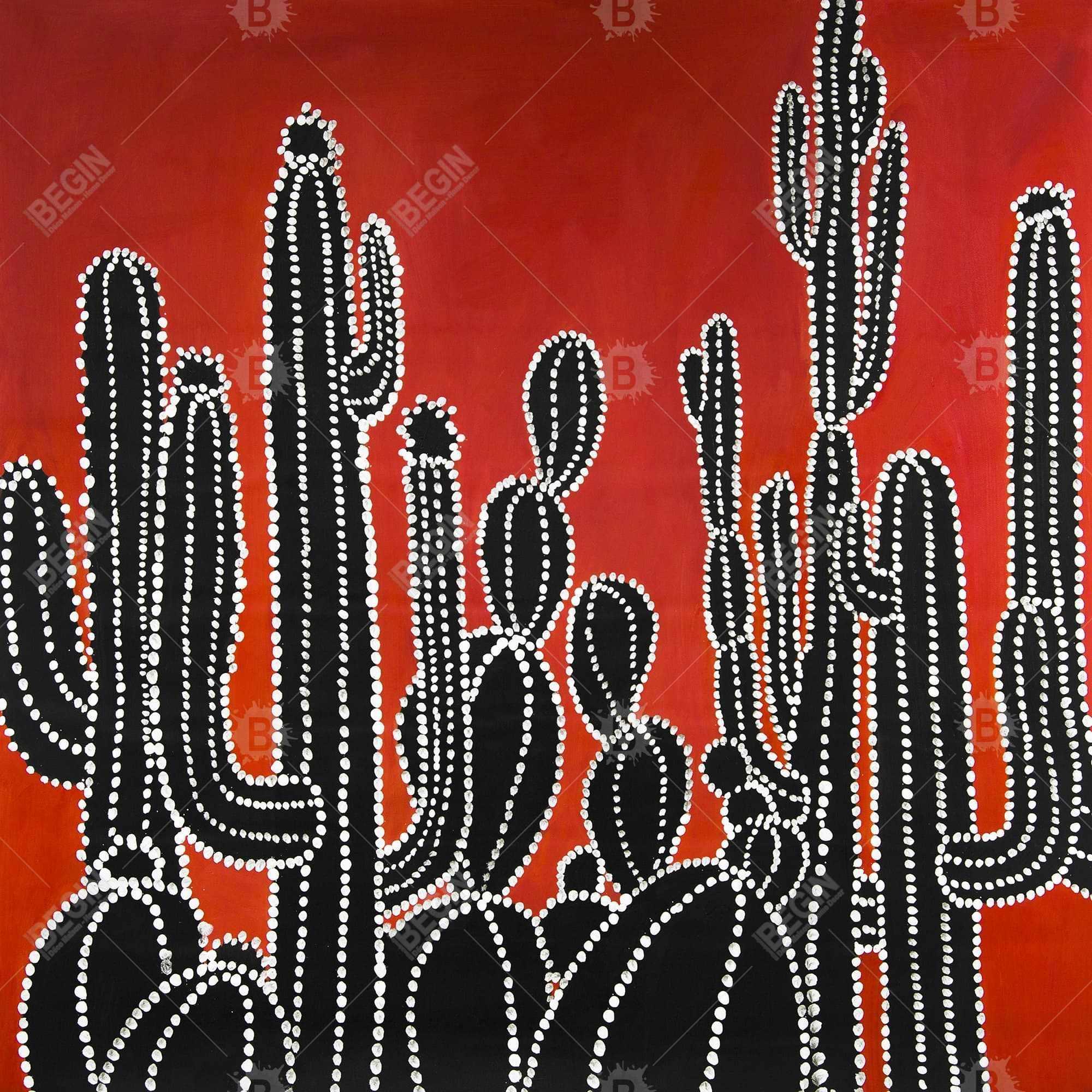 Black tall cactus