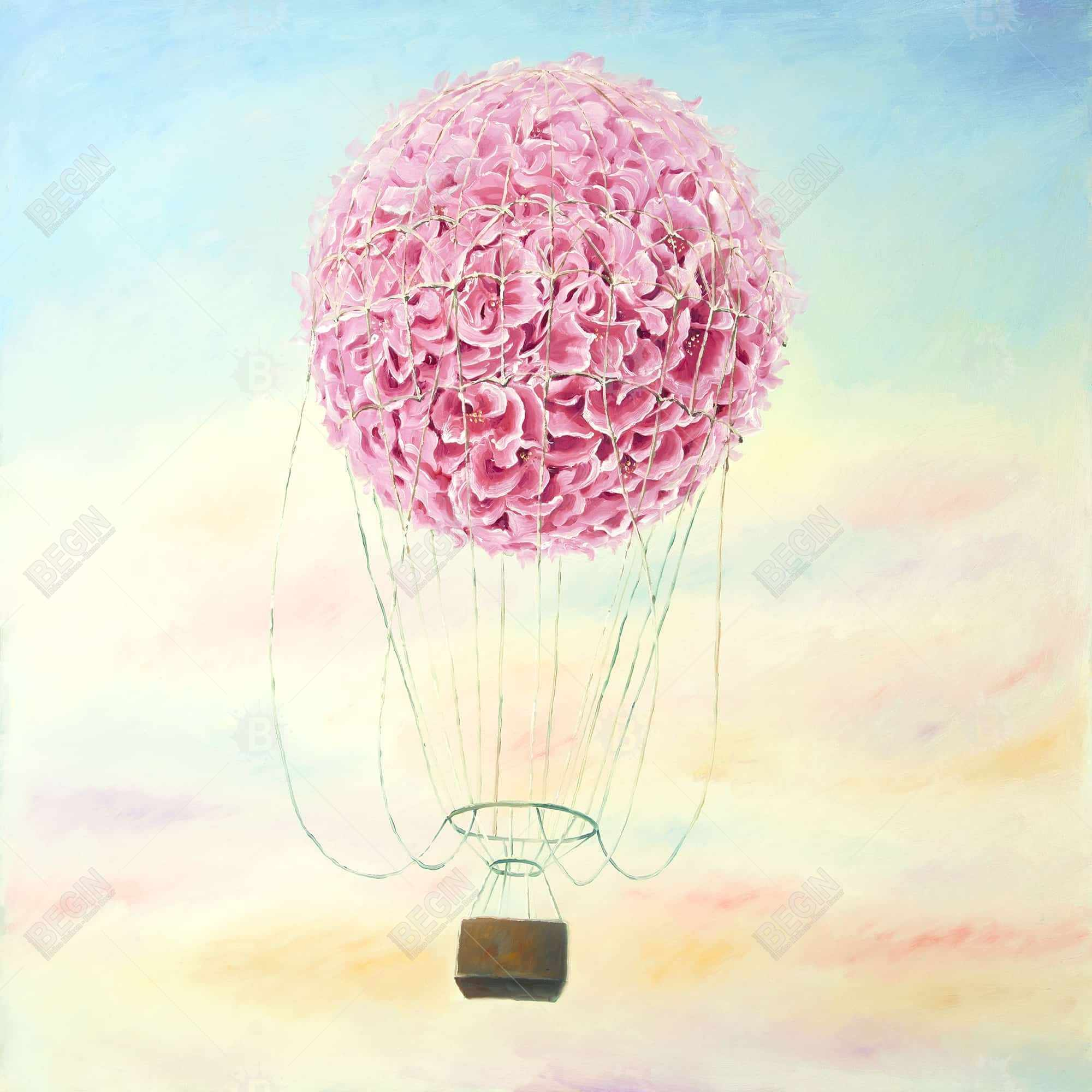 Hot air balloon hydrangea flowers