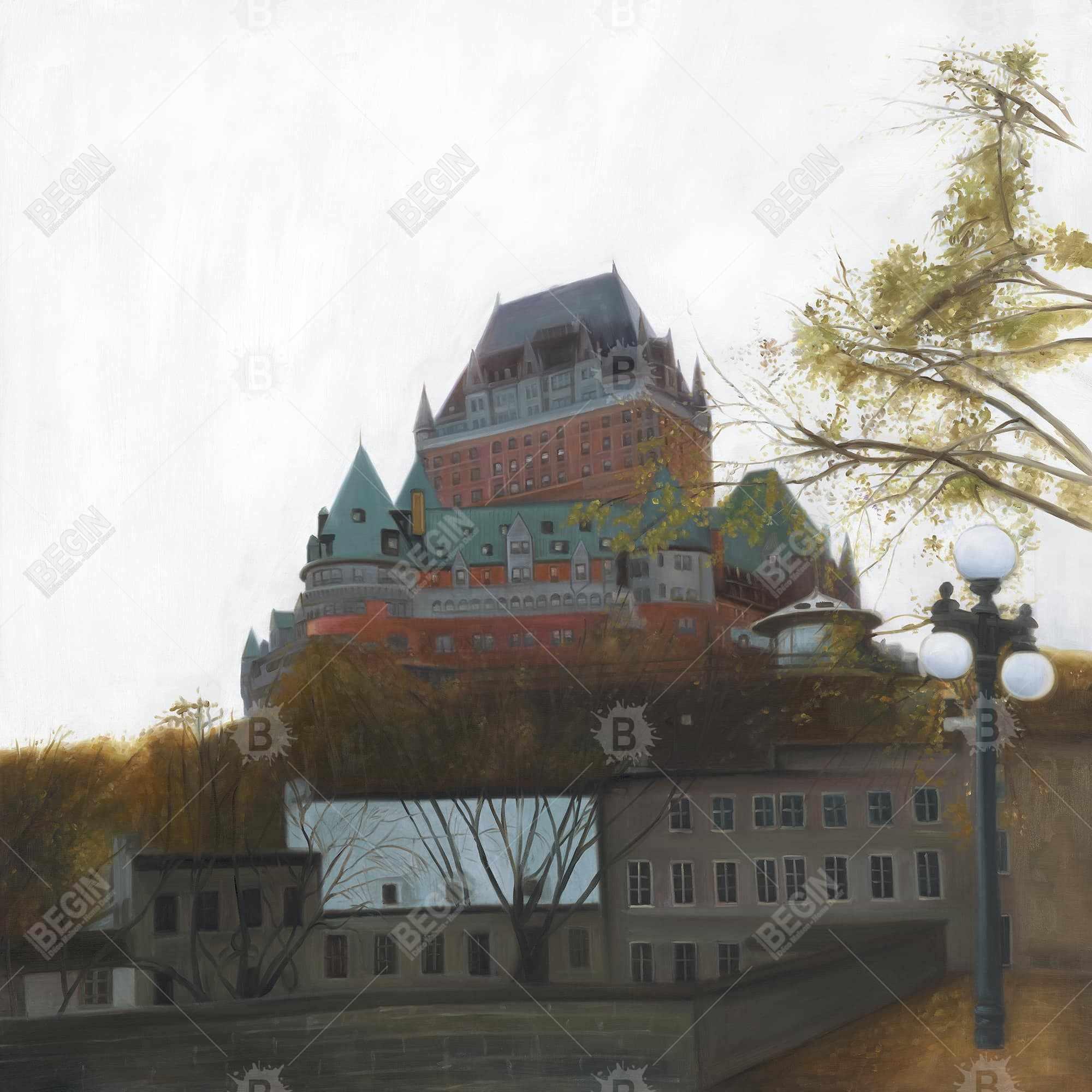 Le château de frontenac in autumn