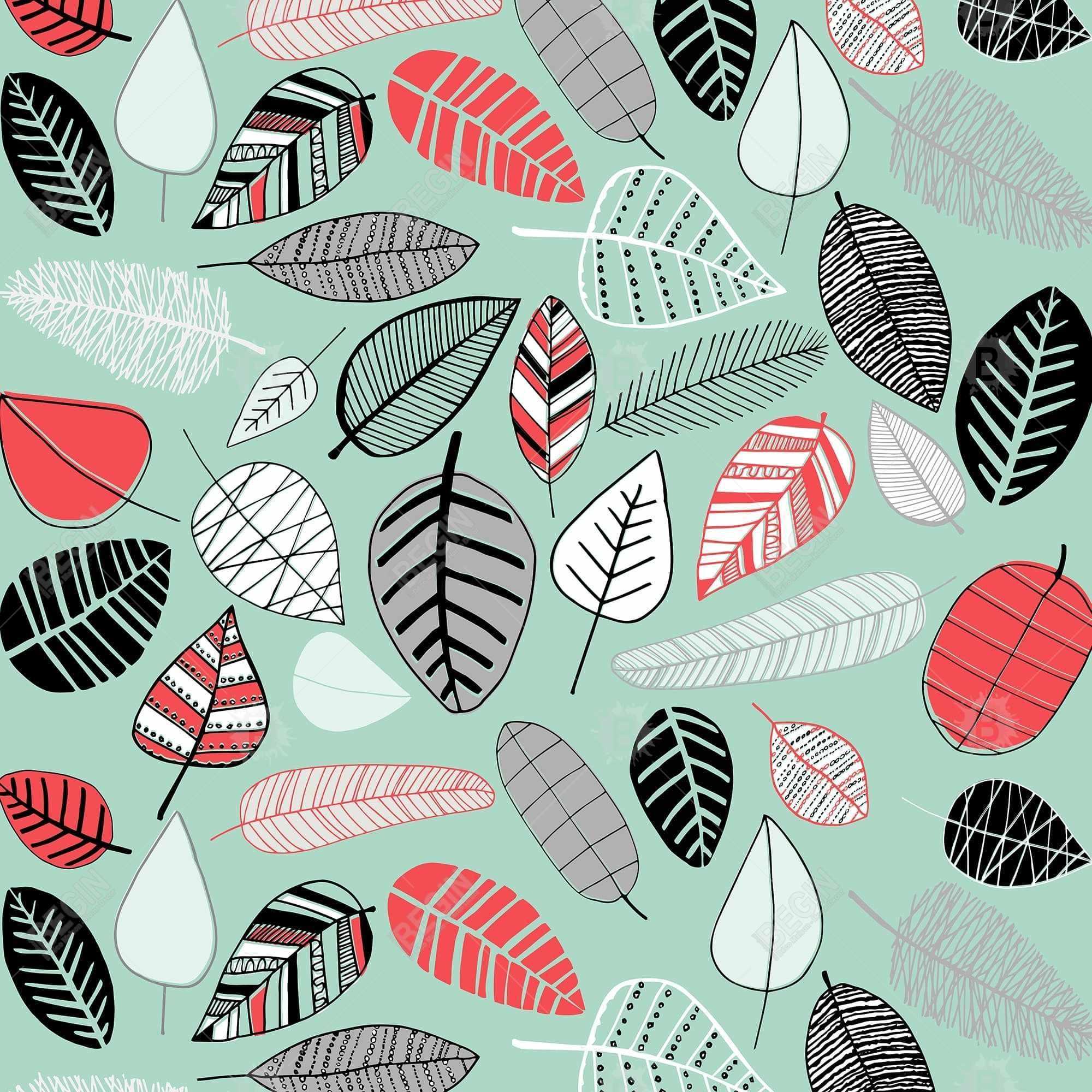 Turquoise leaf patterns