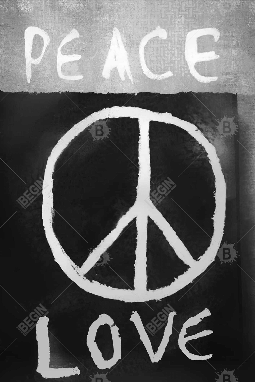 Peace love monochrome