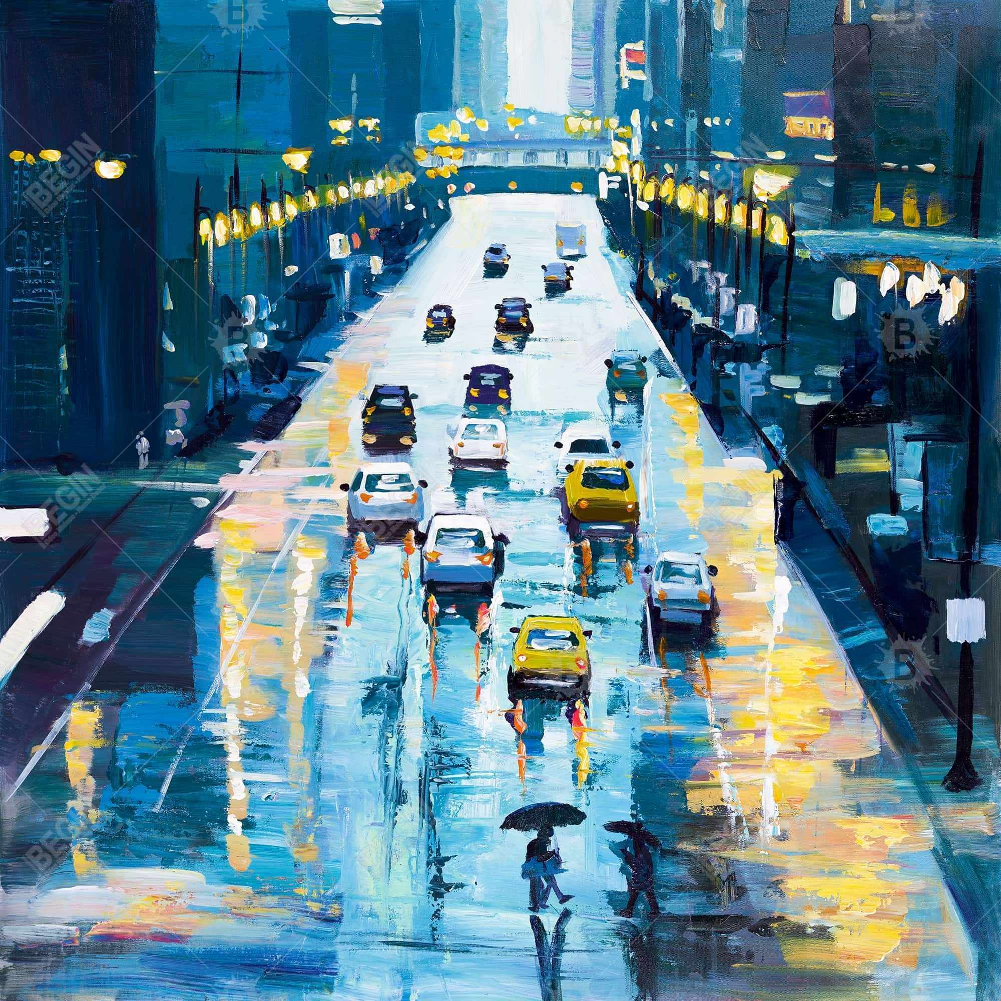 Rainy streets of new york